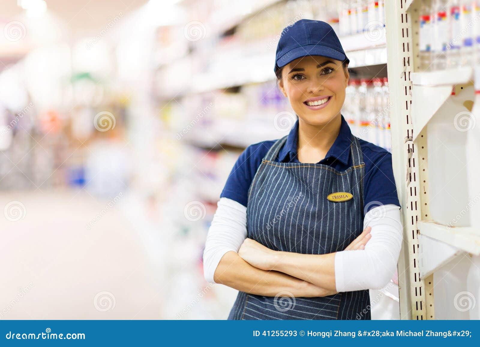 Supermarket shop assistant