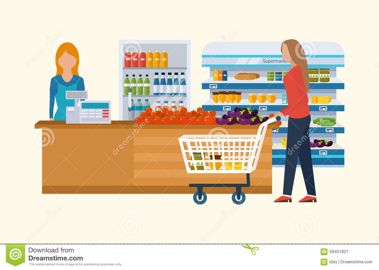 Supermarket Store Concept With Food Assortment, Opening ...