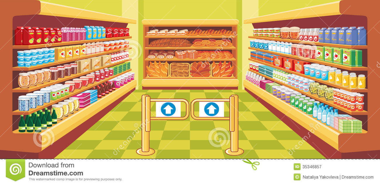 Supermarket. Vector Royalty Free Stock Photography - Image: 35346857