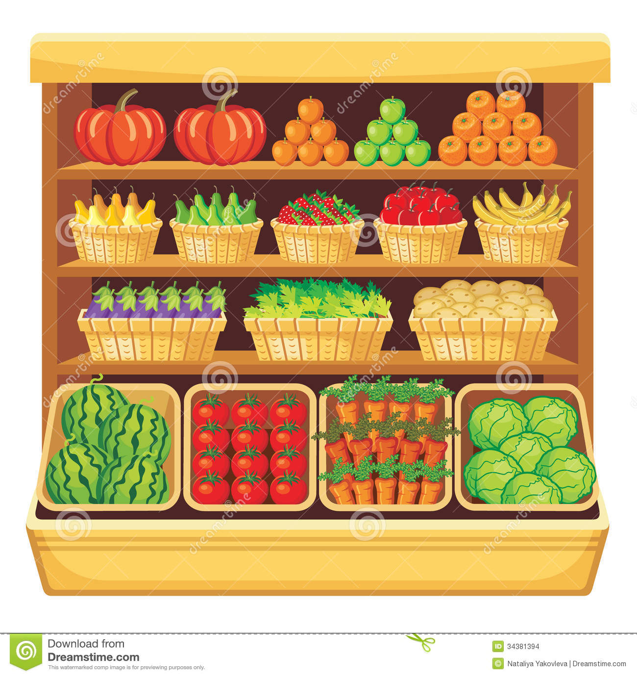 More similar stock images of ` Supermarket. Vegetables and fruits. `