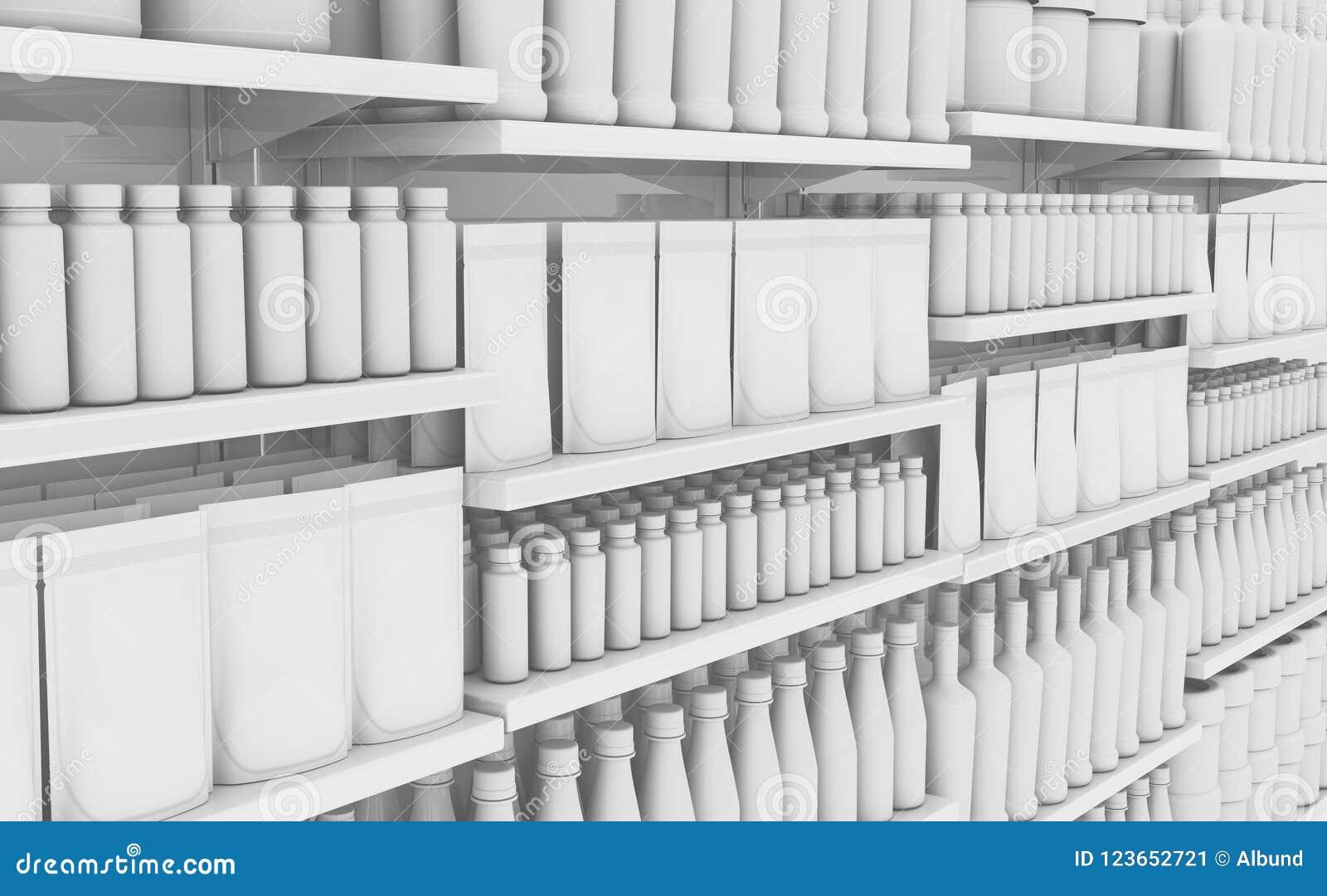 Supermarkethylla med generiska produkter