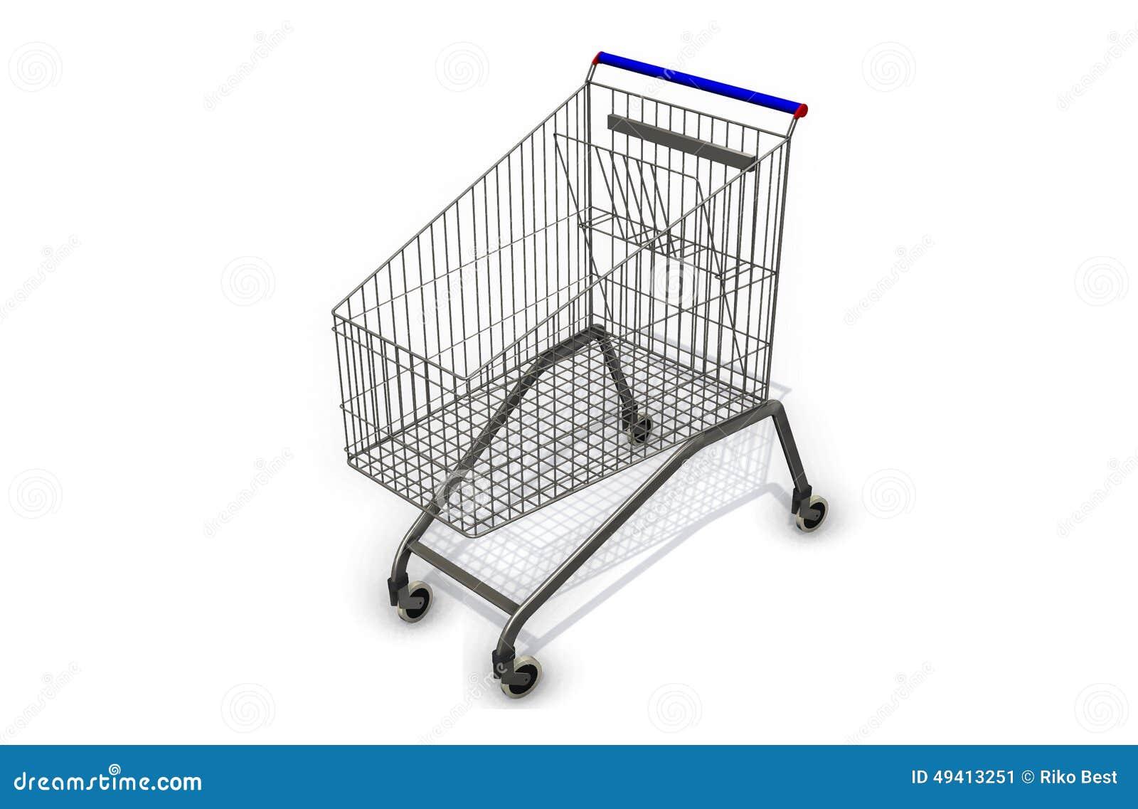Download Supermarktwarenkorb Auf Weißem Hintergrund Stock Abbildung - Illustration von wagen, karte: 49413251
