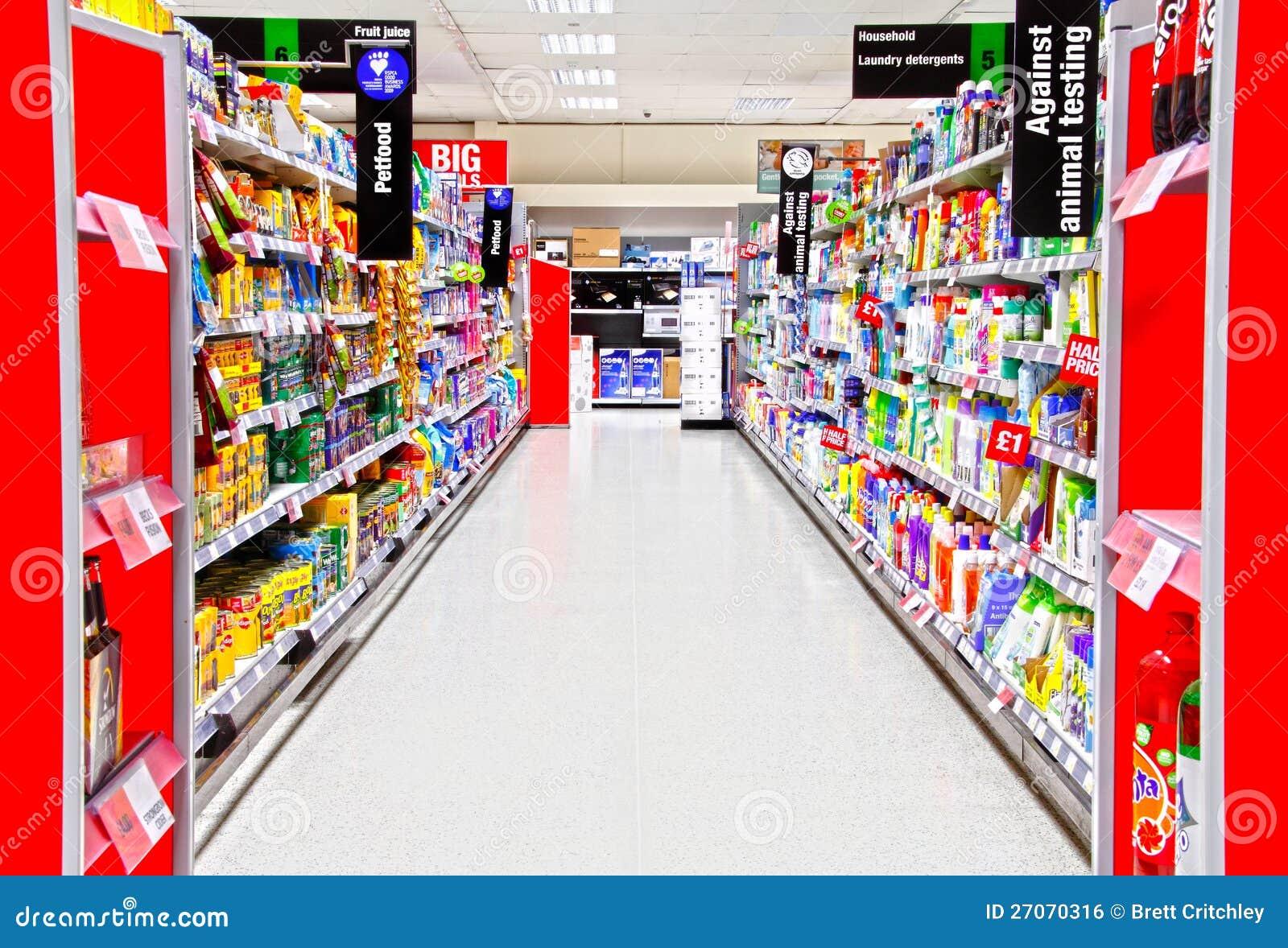 Supermercado del alimento de animal doméstico