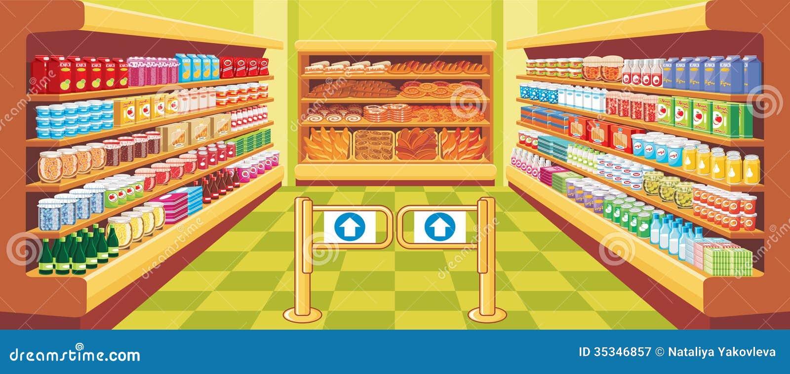 Supermercado. vetor