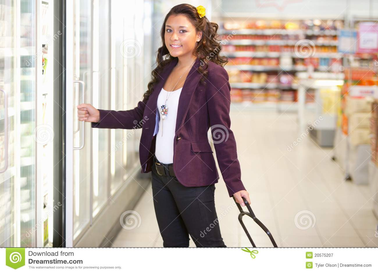Supermercato freddo dell alimento