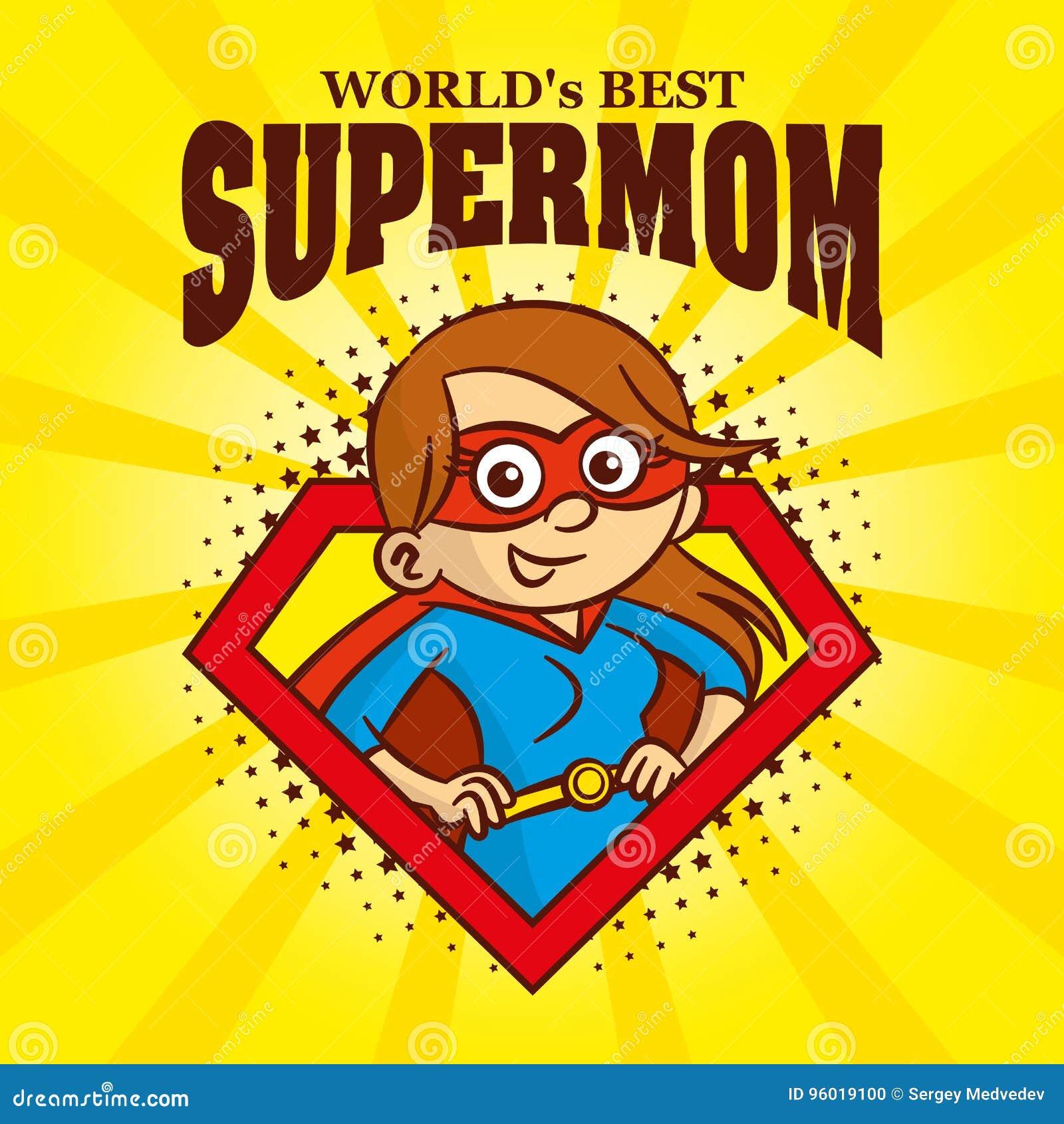Supermom商标漫画人物超级英雄