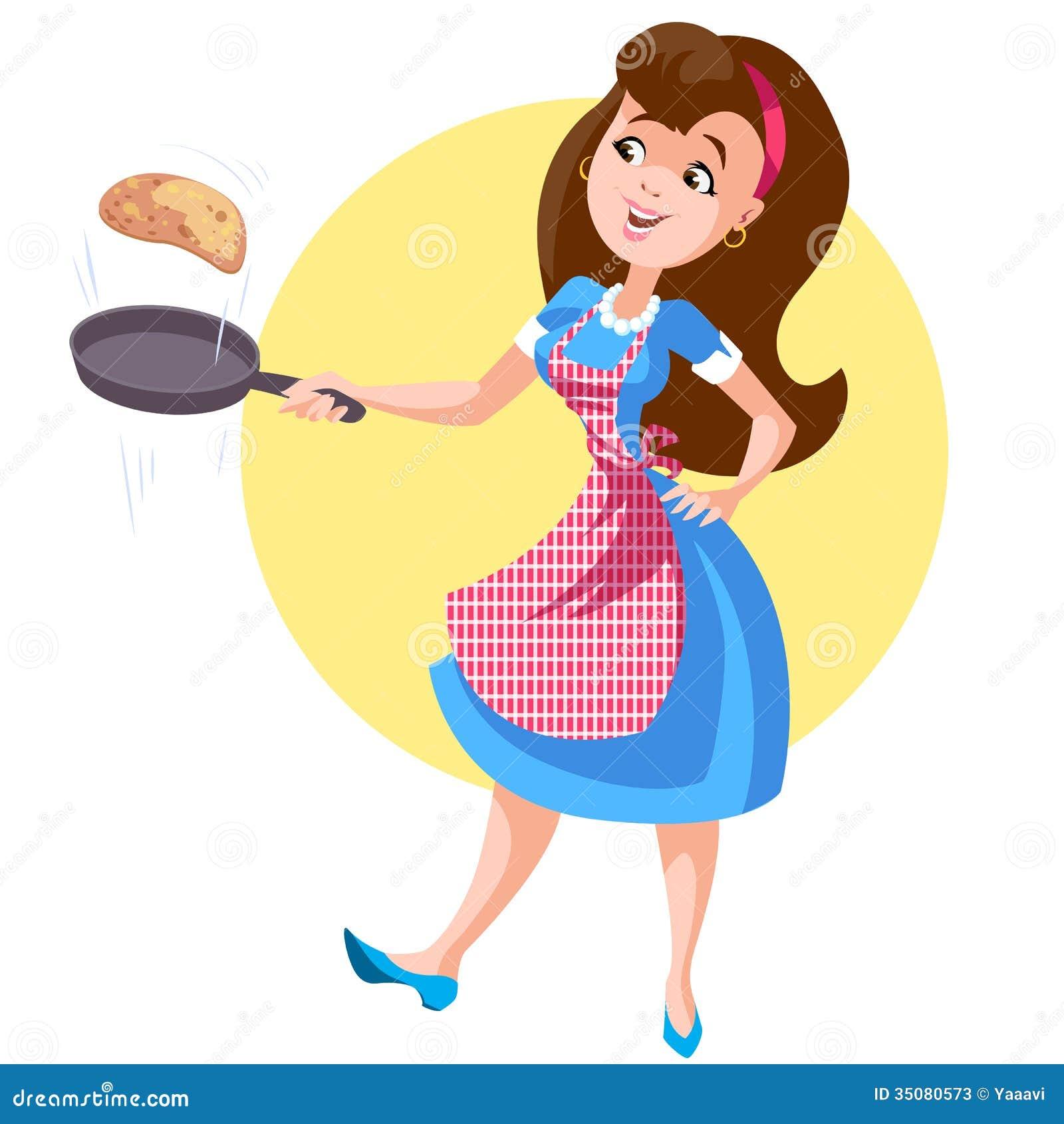 image Mom brunette housewife breakfast creampie