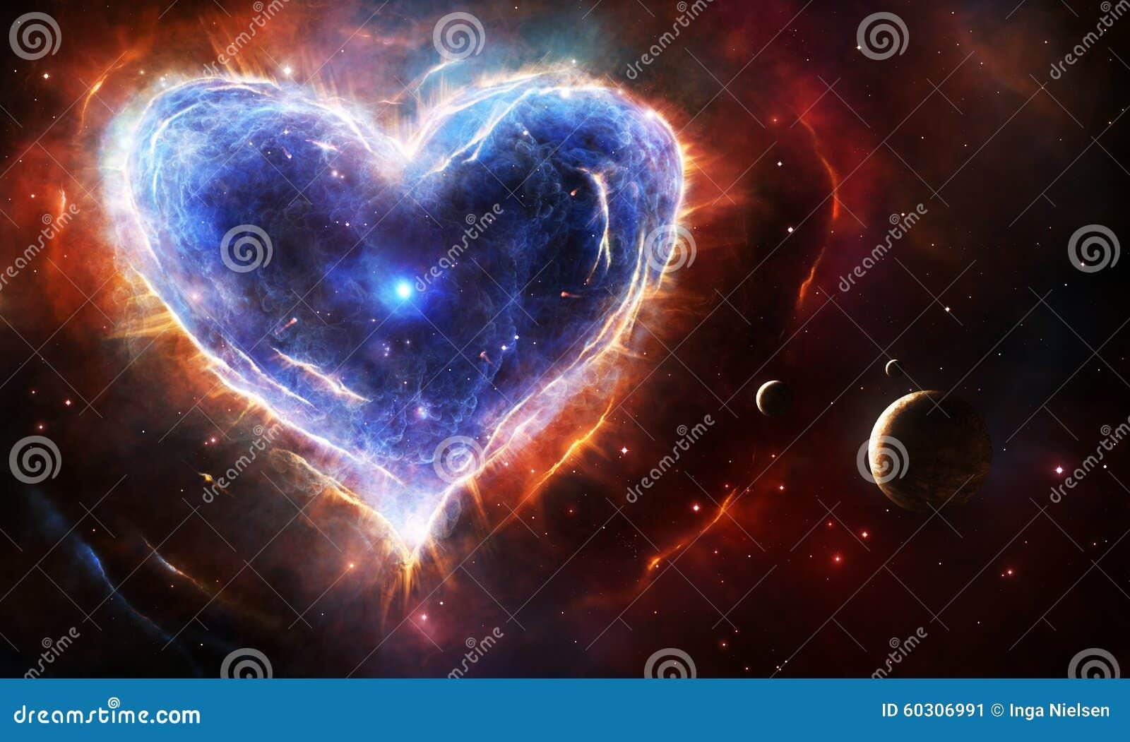 Stock Illustration Supernova Heart Nebula Shape Planets Stars Image60306991 on Space Planets