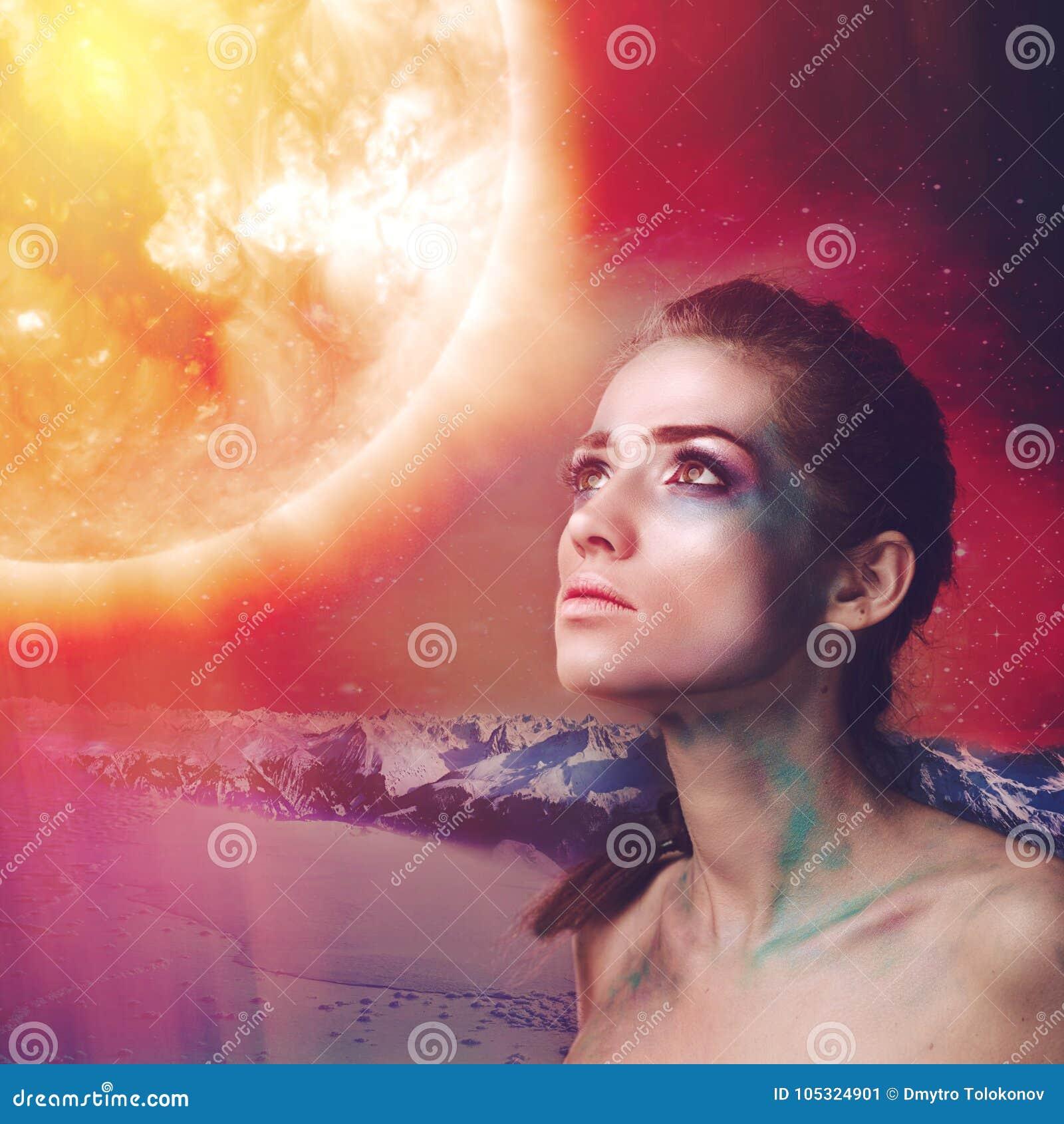 Supernova, science fiction female portrait