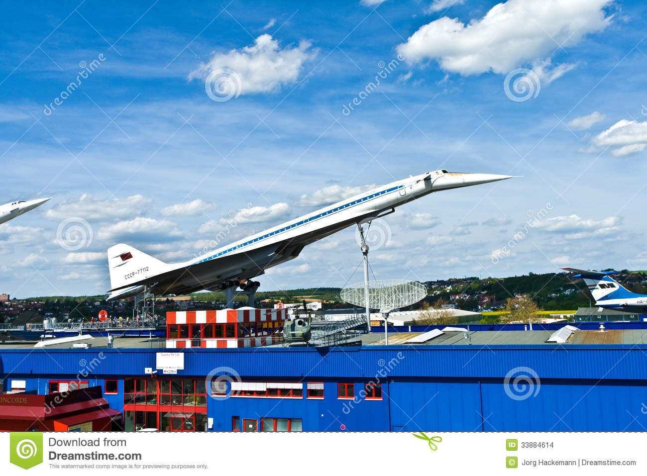 supersonic aircraft tupolev tu 144 editorial stock image image 33884614. Black Bedroom Furniture Sets. Home Design Ideas