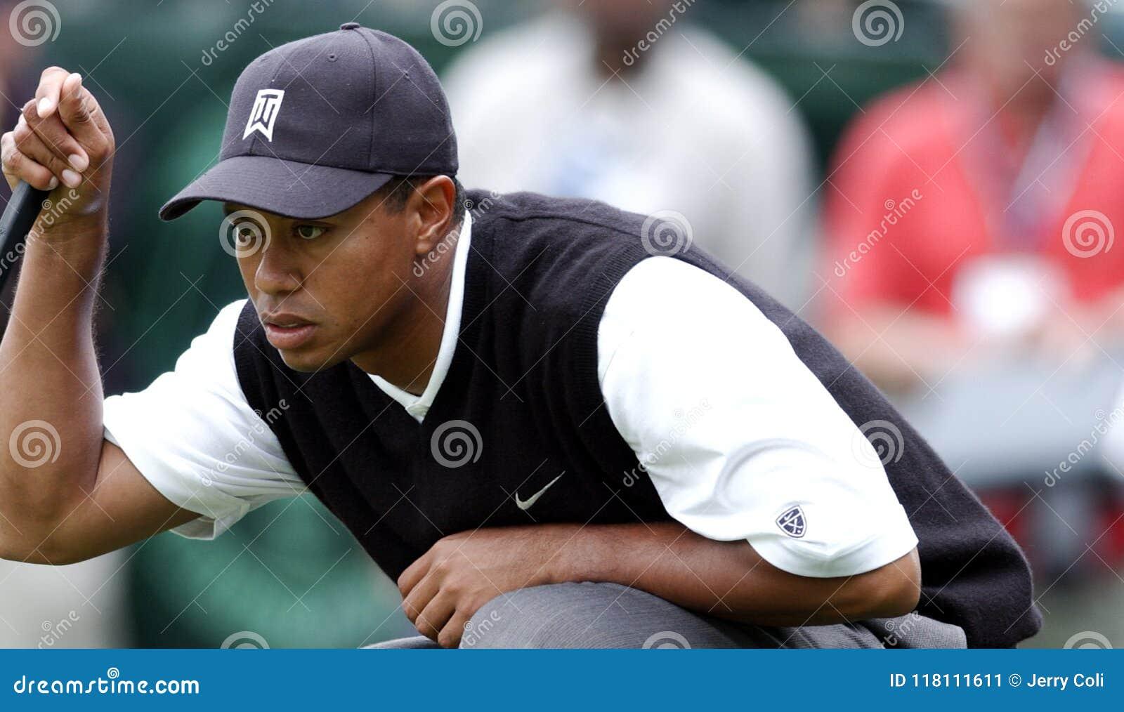 Superstar Tiger Woods de golf de PGA