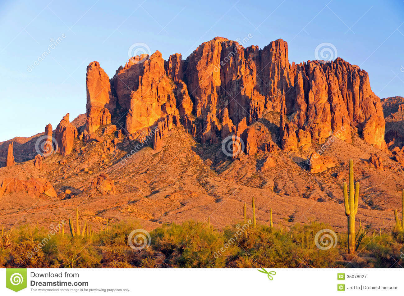 Superstition Mountain In The Arizona Desert Royalty Free