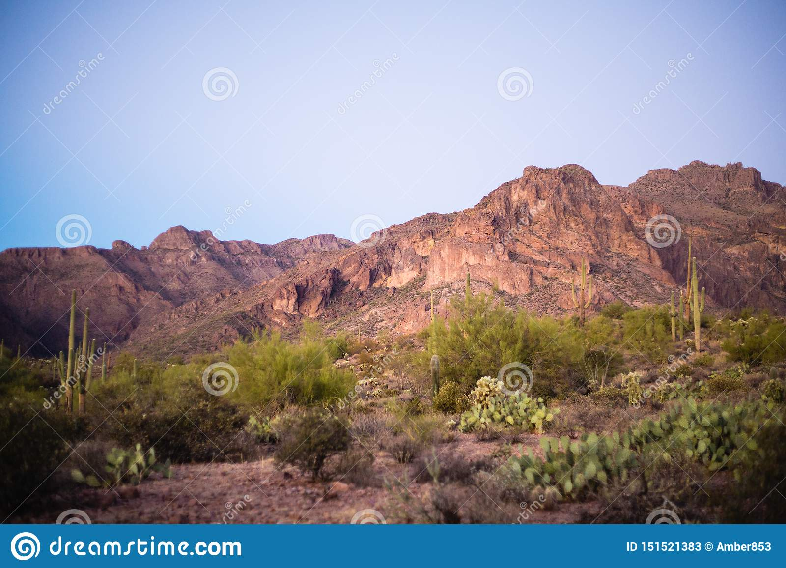 Superstition Mountain Landscape in Arizona Desert