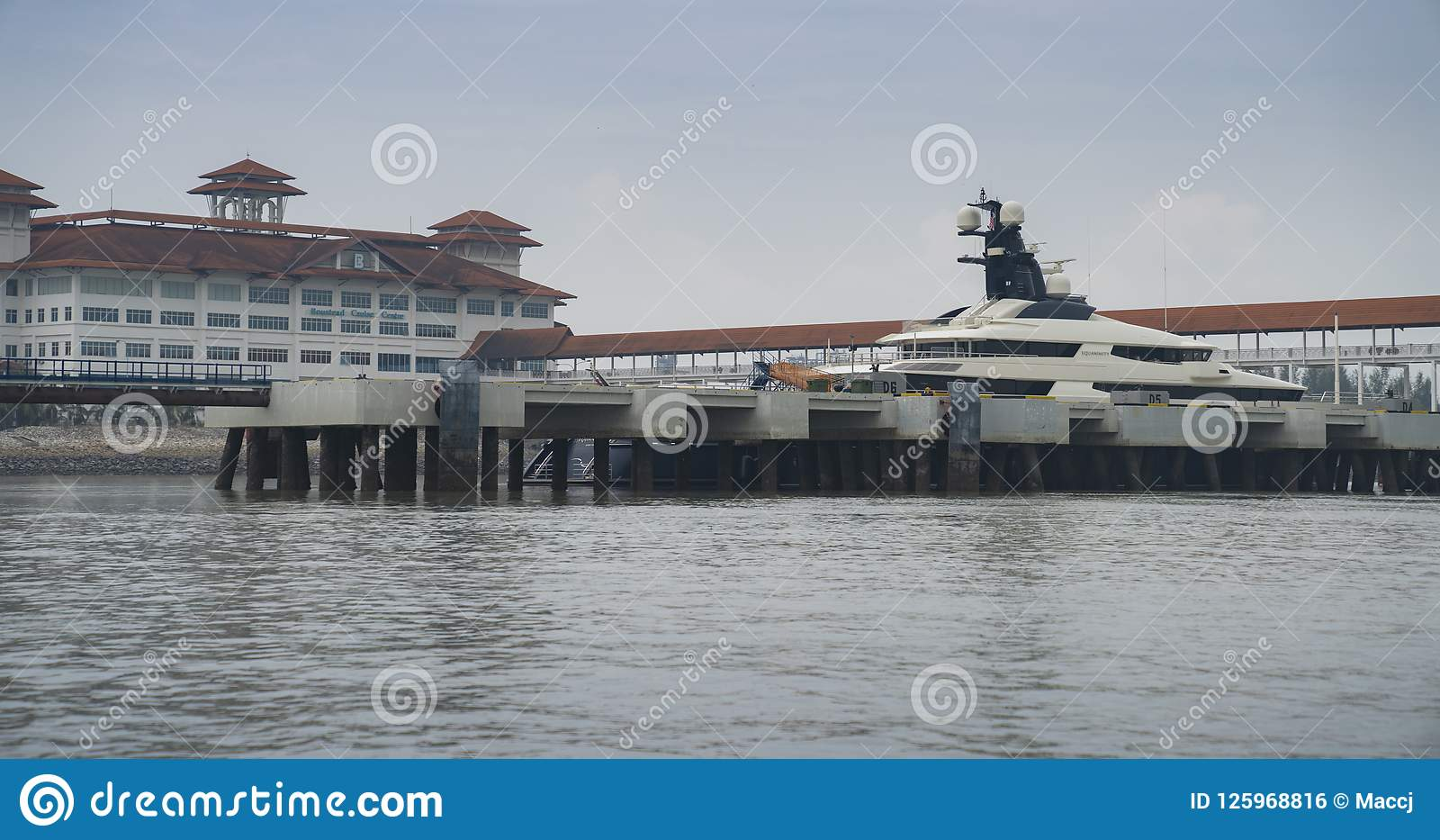 Superyacht Equanimity In Port Klang Malaysia Editorial Photo