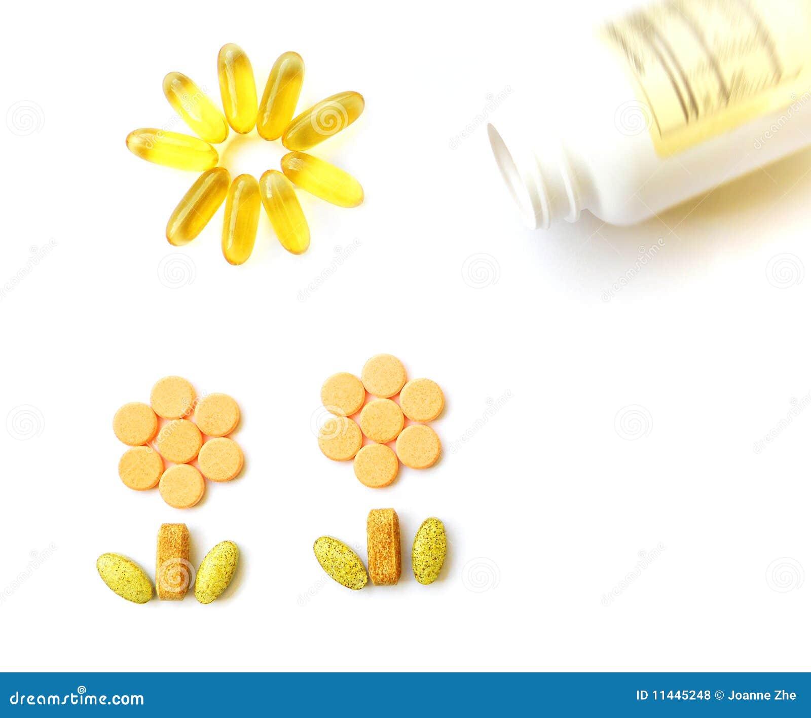 Suplementos às vitaminas para a saúde