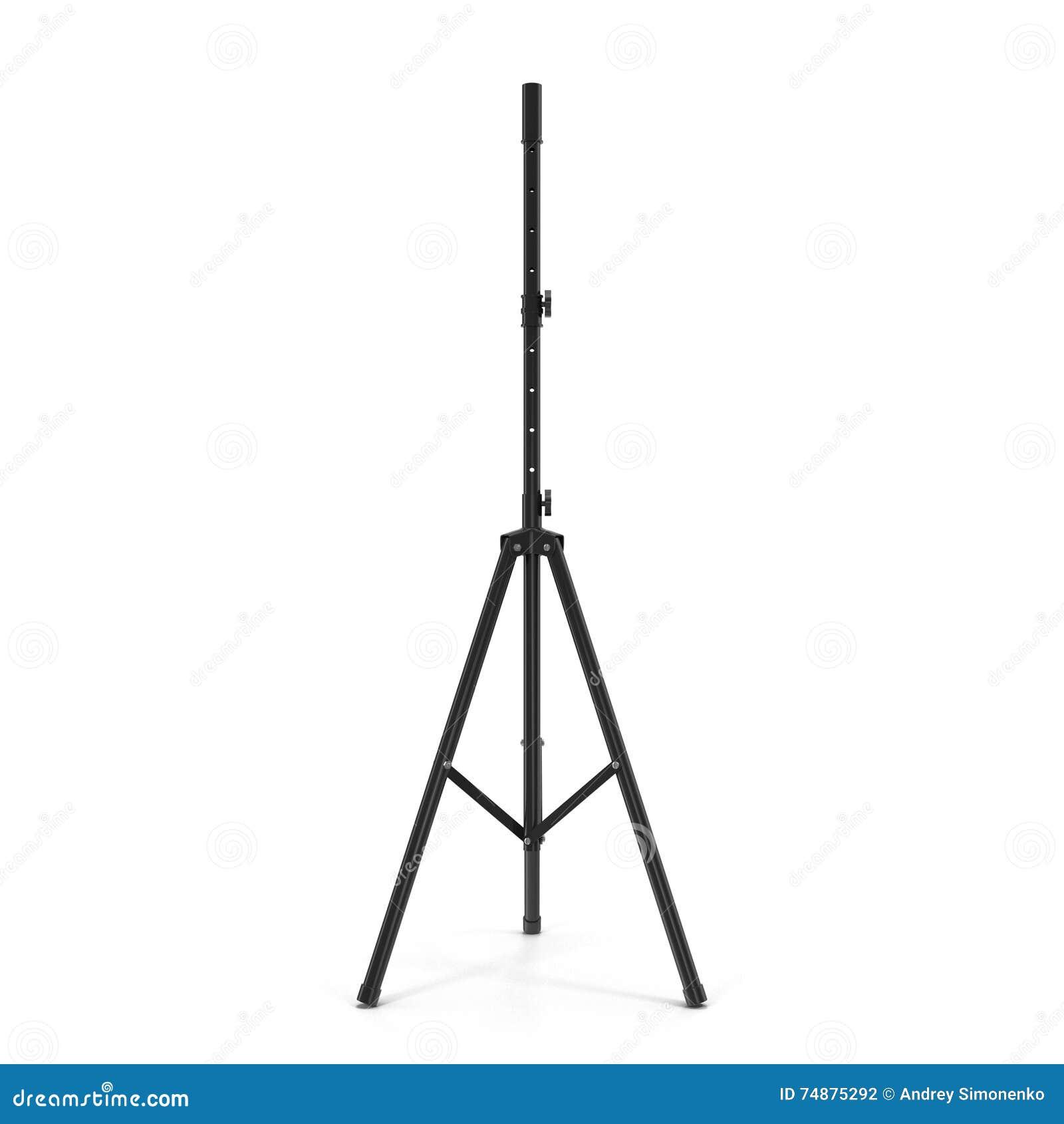 Suporte do microfone isolado na ilustração 3D branca