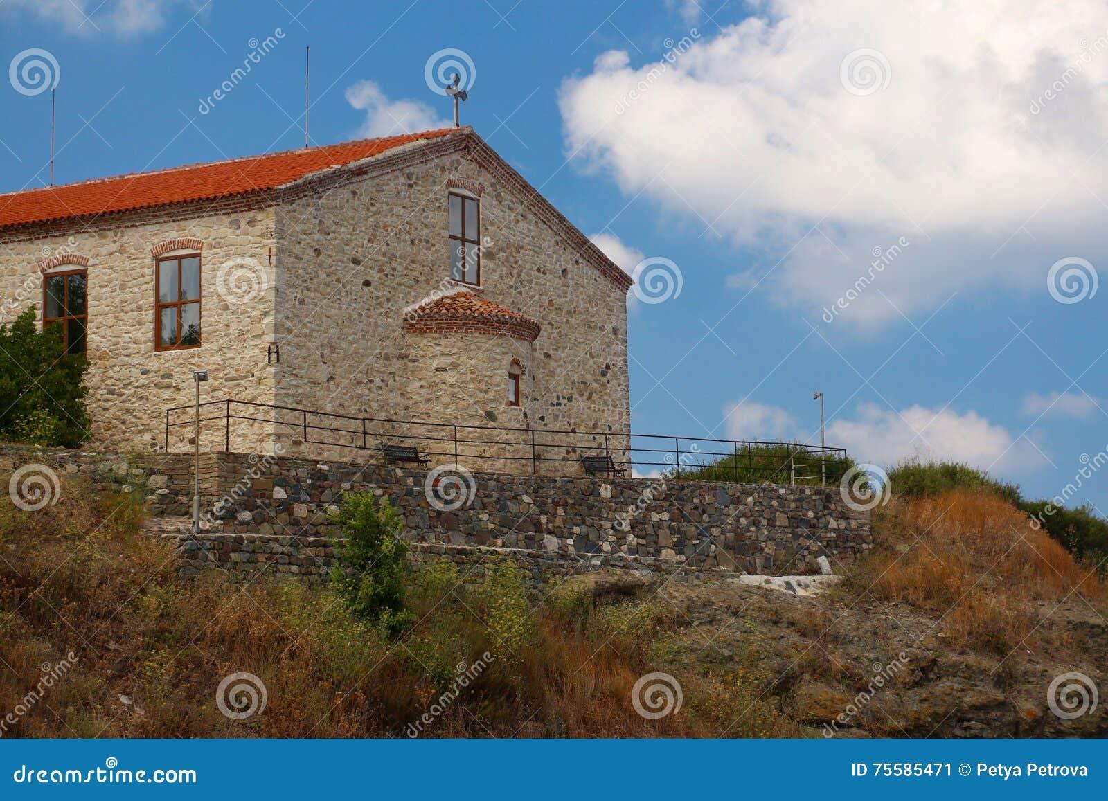 """A suposição do """"The da igreja de St Mary, Tsarevo, Bulgária"""