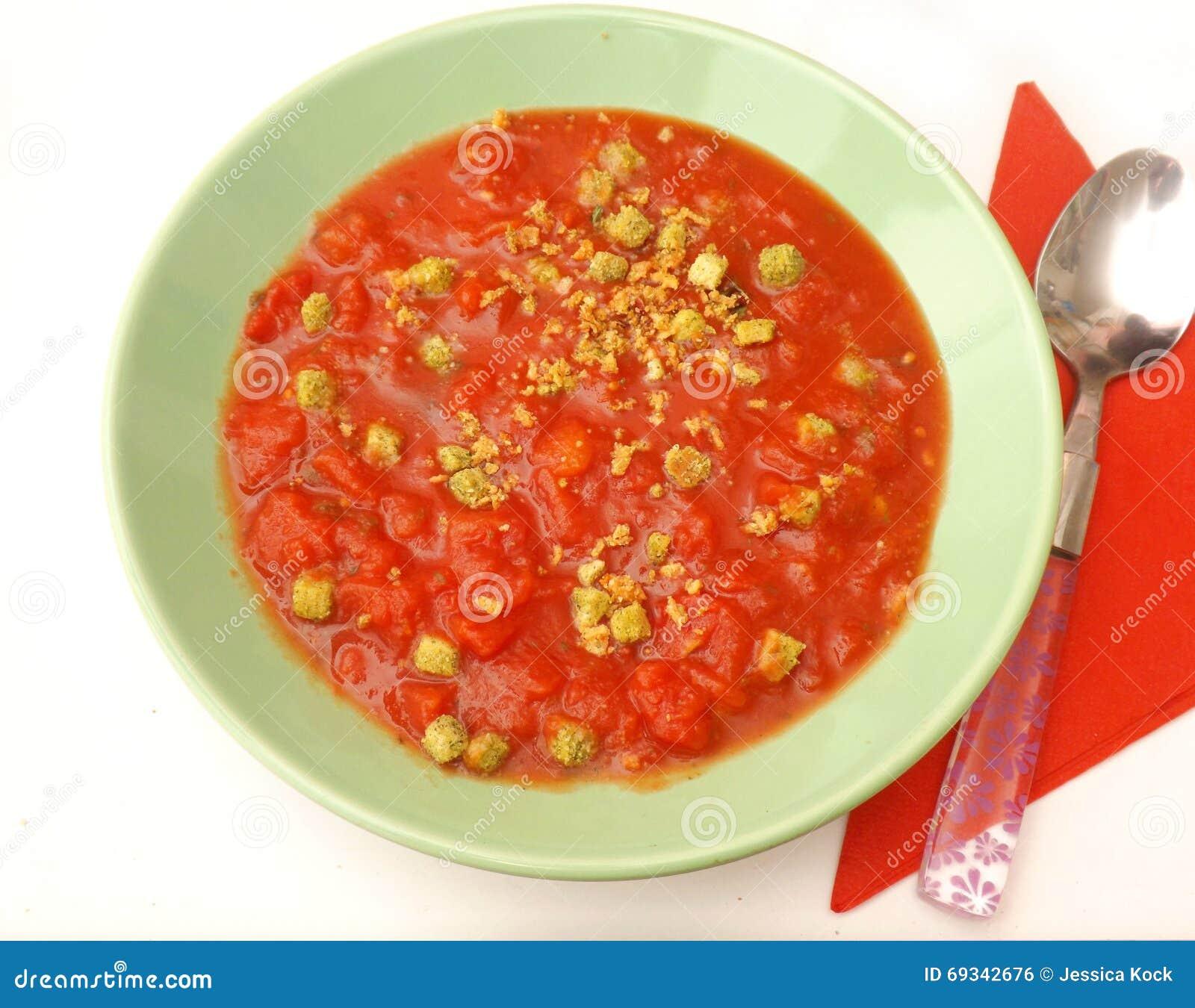Suppe von Tomaten
