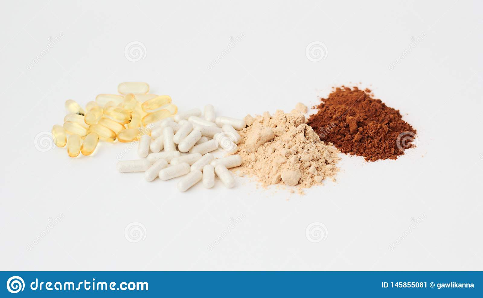 Supplements For PCOS Polycystic Ovary Syndrome Stock Image