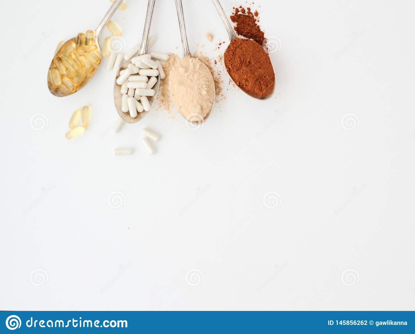 Supplements For PCOS Polycystic Ovary Syndrome Stock Photo