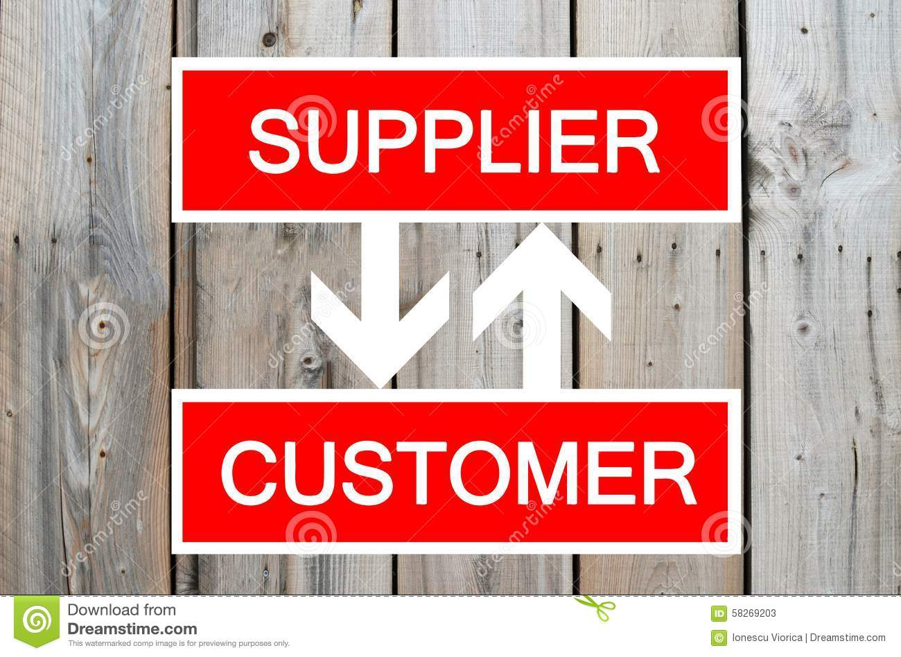 Supplier And Customer Cycle Stock Image  Image of