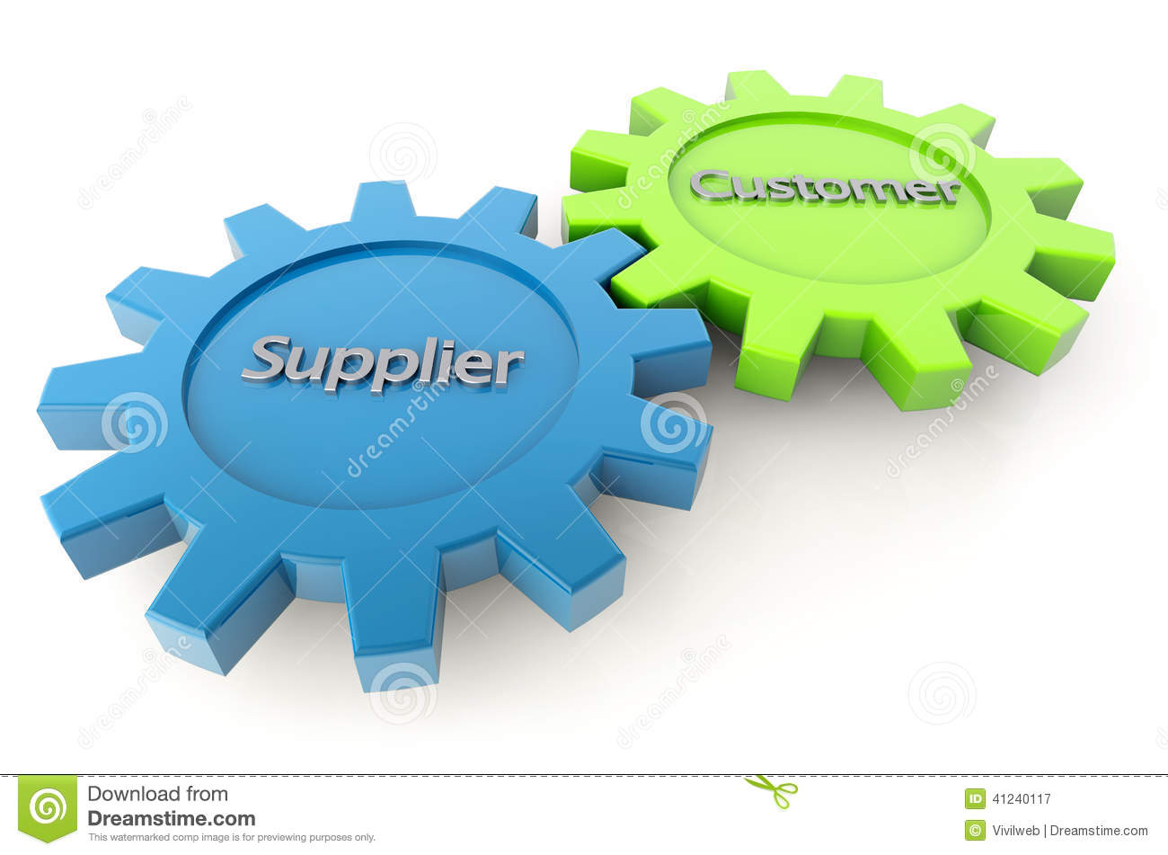 Supplier And Customer Gears Stock Illustration - Image: 41240117