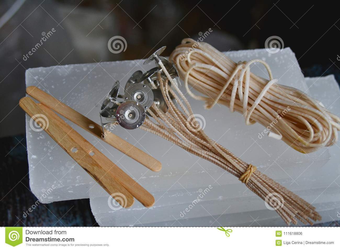 Let`s make some candles! stock photo  Image of paraffin
