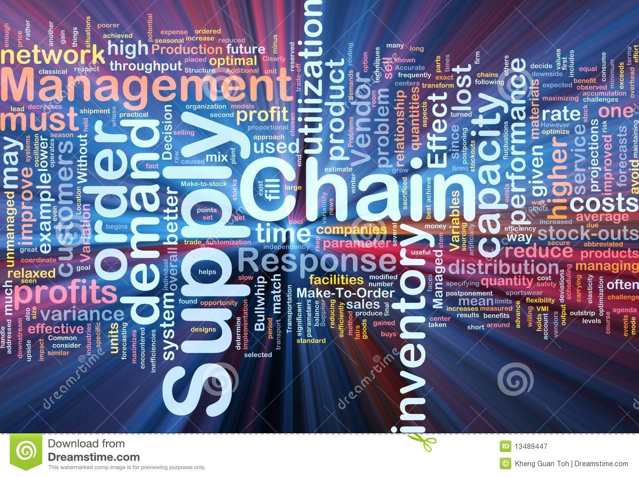 Supply Chain Background Concept Glowing Royalty Free Stock