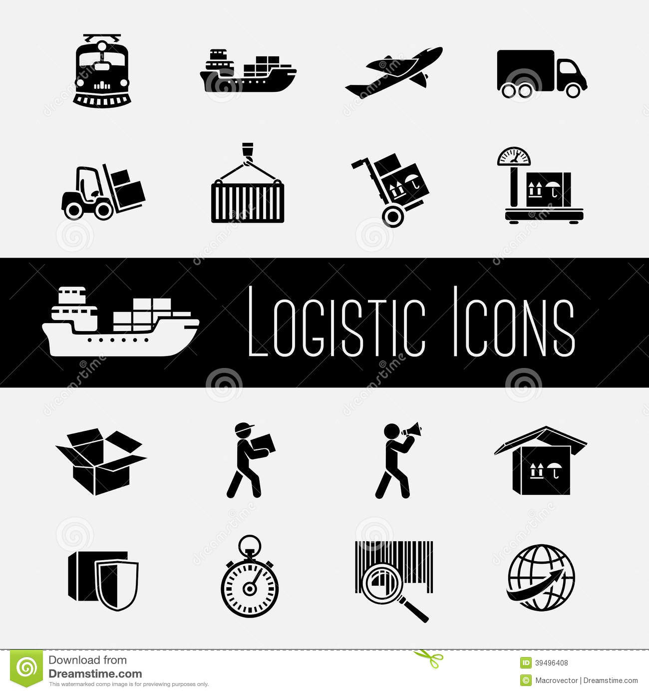 Supply Chain Icons Set Stock Vector  Image Of Delivery