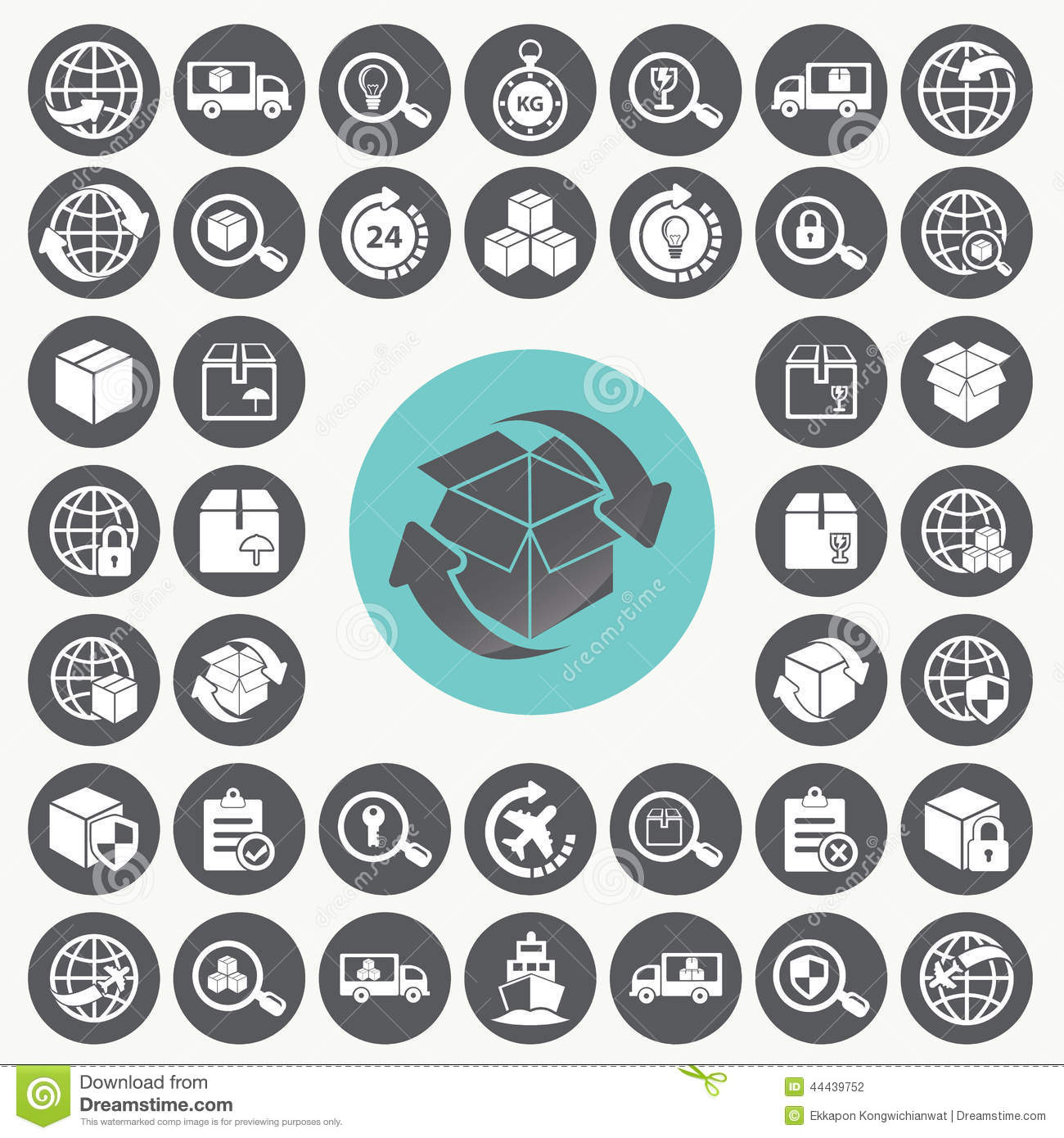 Supply Chain And Logistics Icons Set. Stock Vector - Image: 44439752