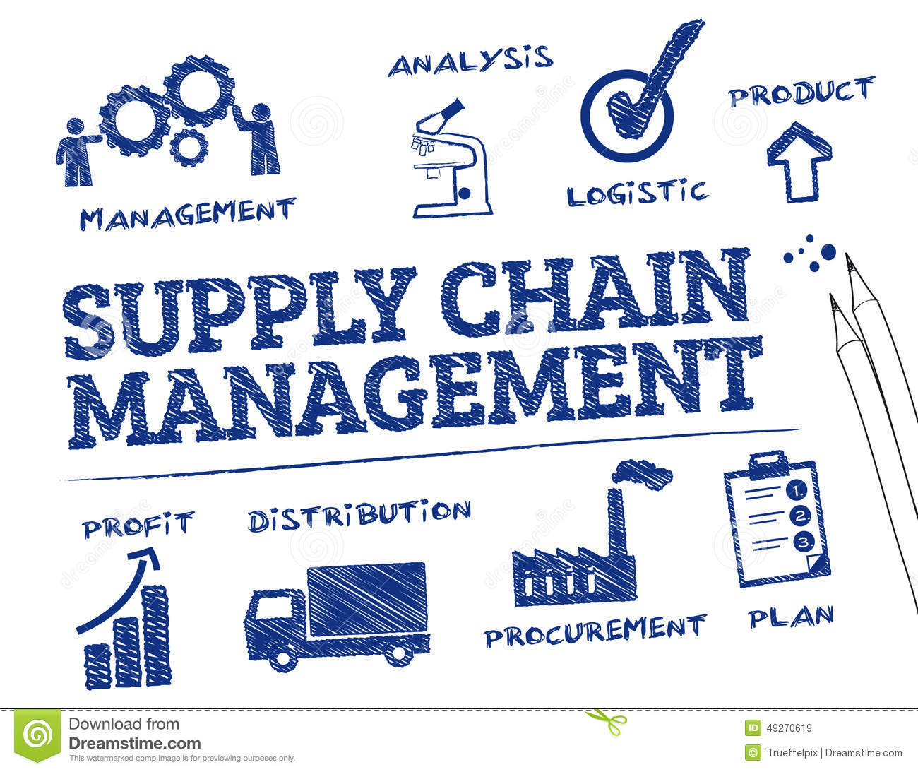 supply chain diagramme    supply       chain    management illustration stock illustration     supply       chain    management illustration stock illustration