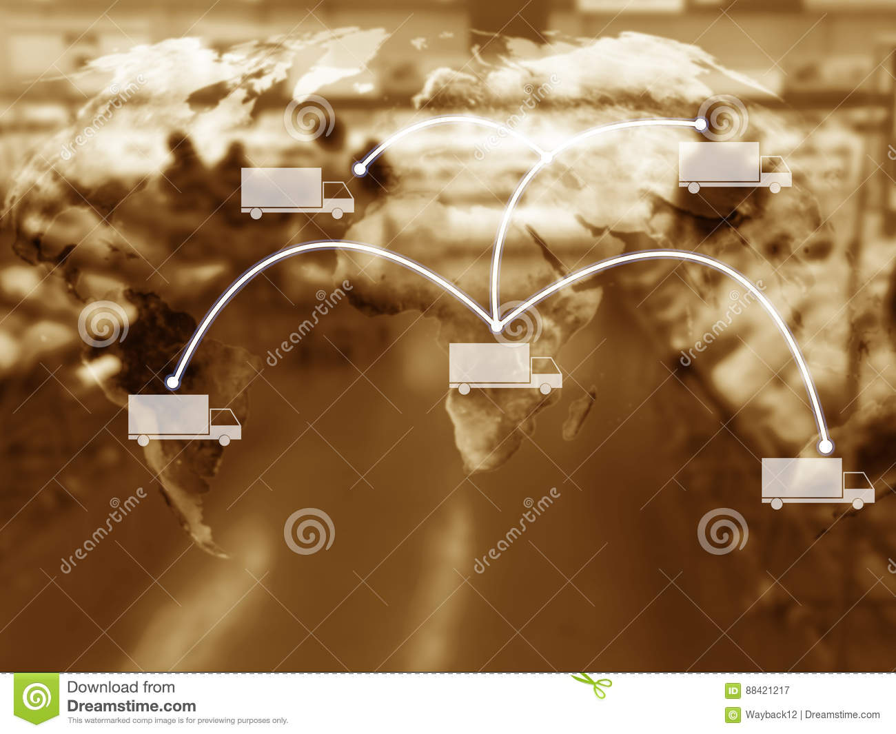Supply Chain Management Concept, Copy Space Stock Image
