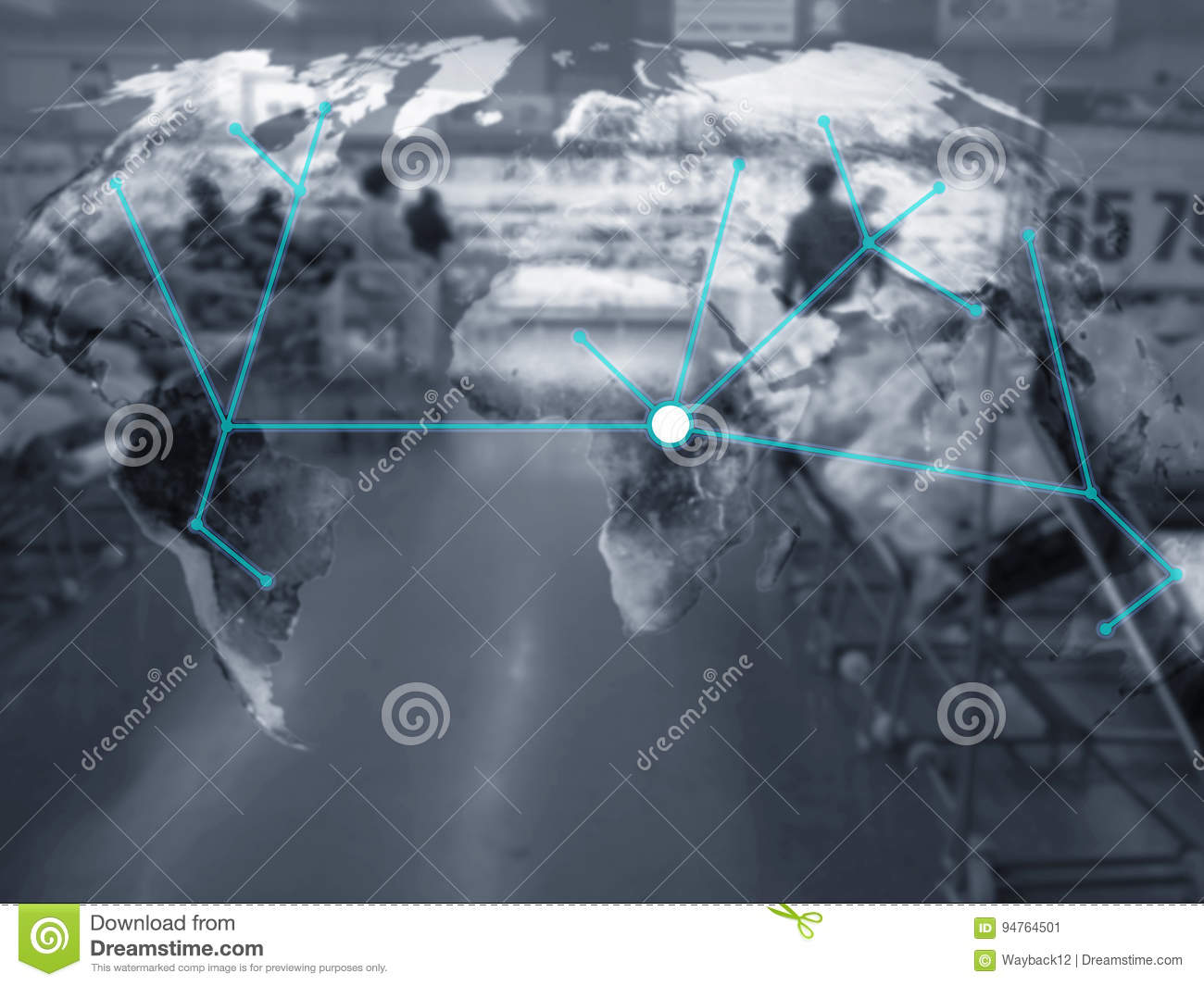Supply Chain Management Concept Stock Image - Image of