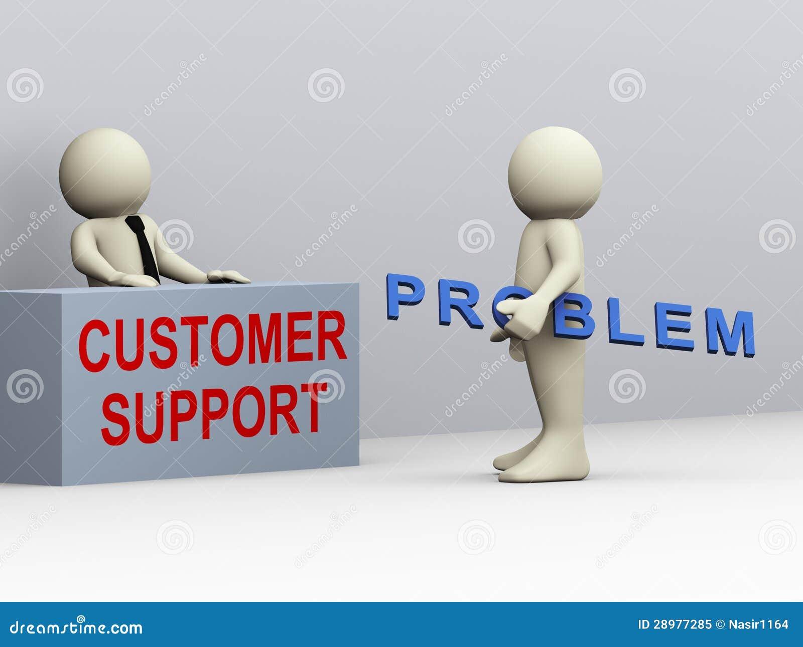 Support à la clientèle de l homme 3d et