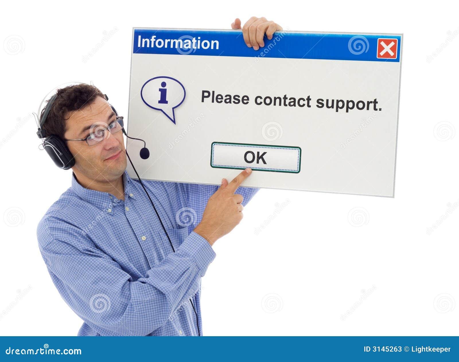 Support amical avec le message