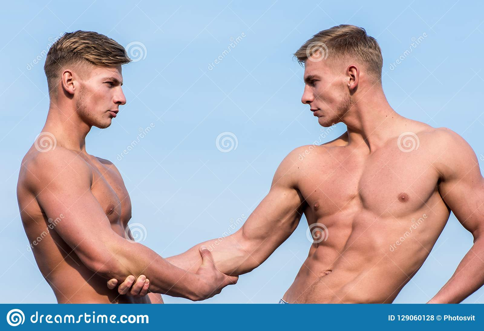 Twins man show naked