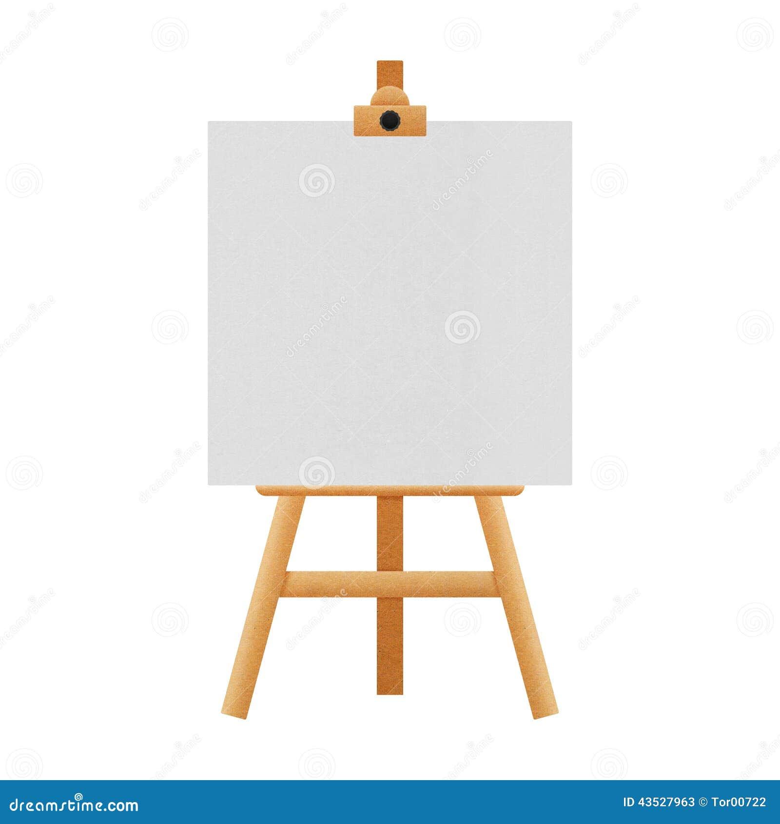Support de chevalet d 39 isolement pour des peintures dans l for Chevalet peinture