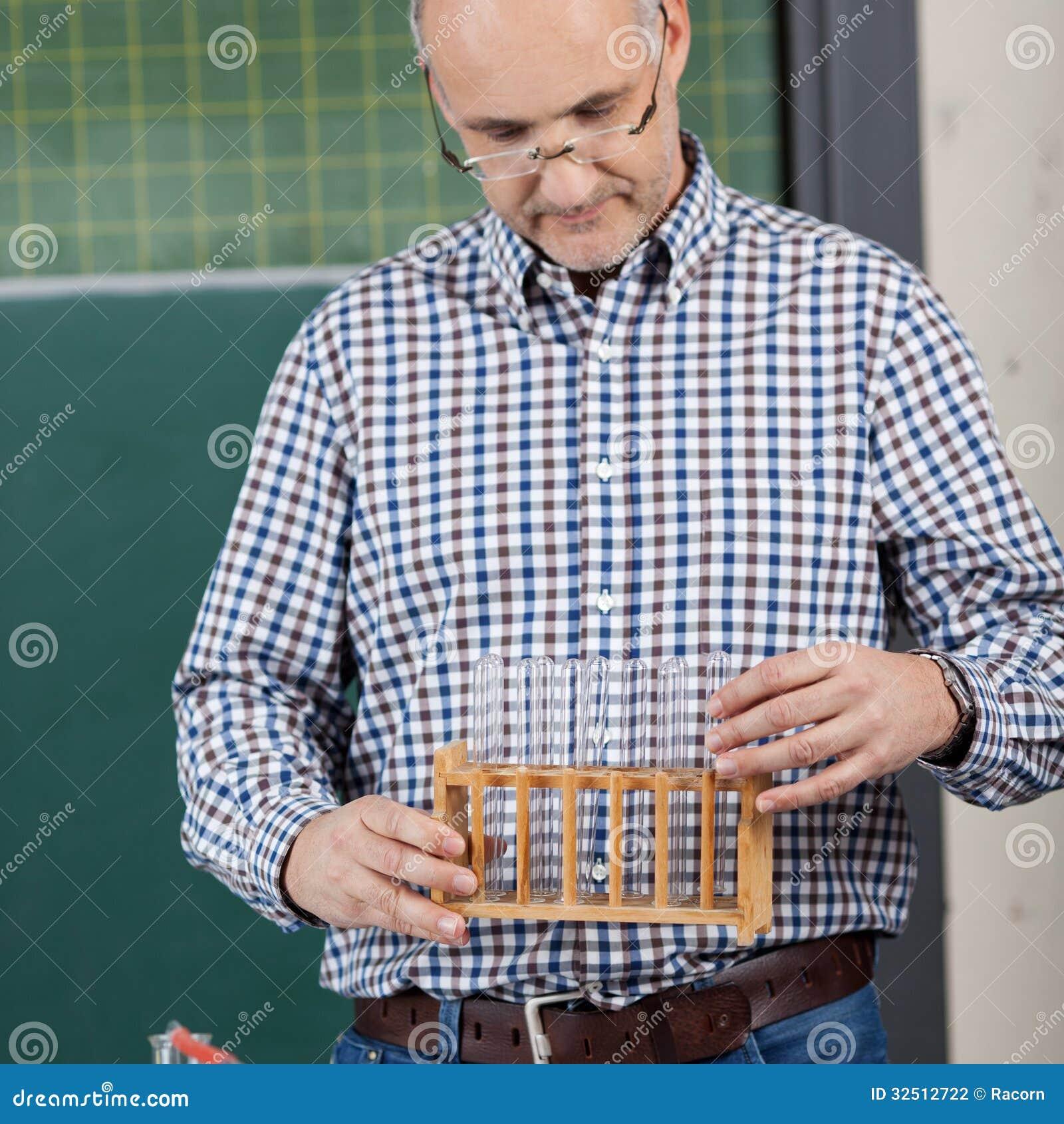 Support de professeur Holding Test Tube