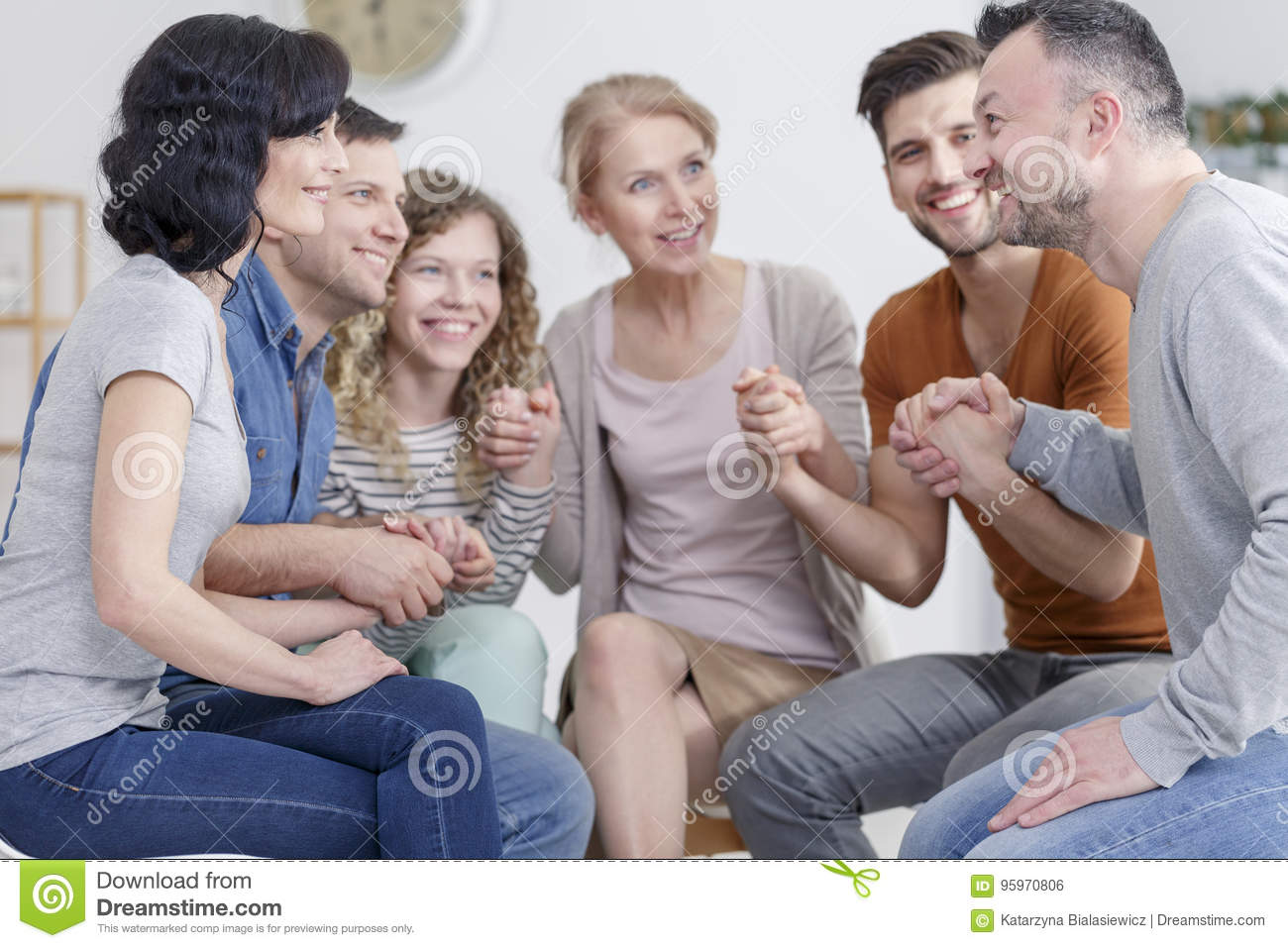Support group praying