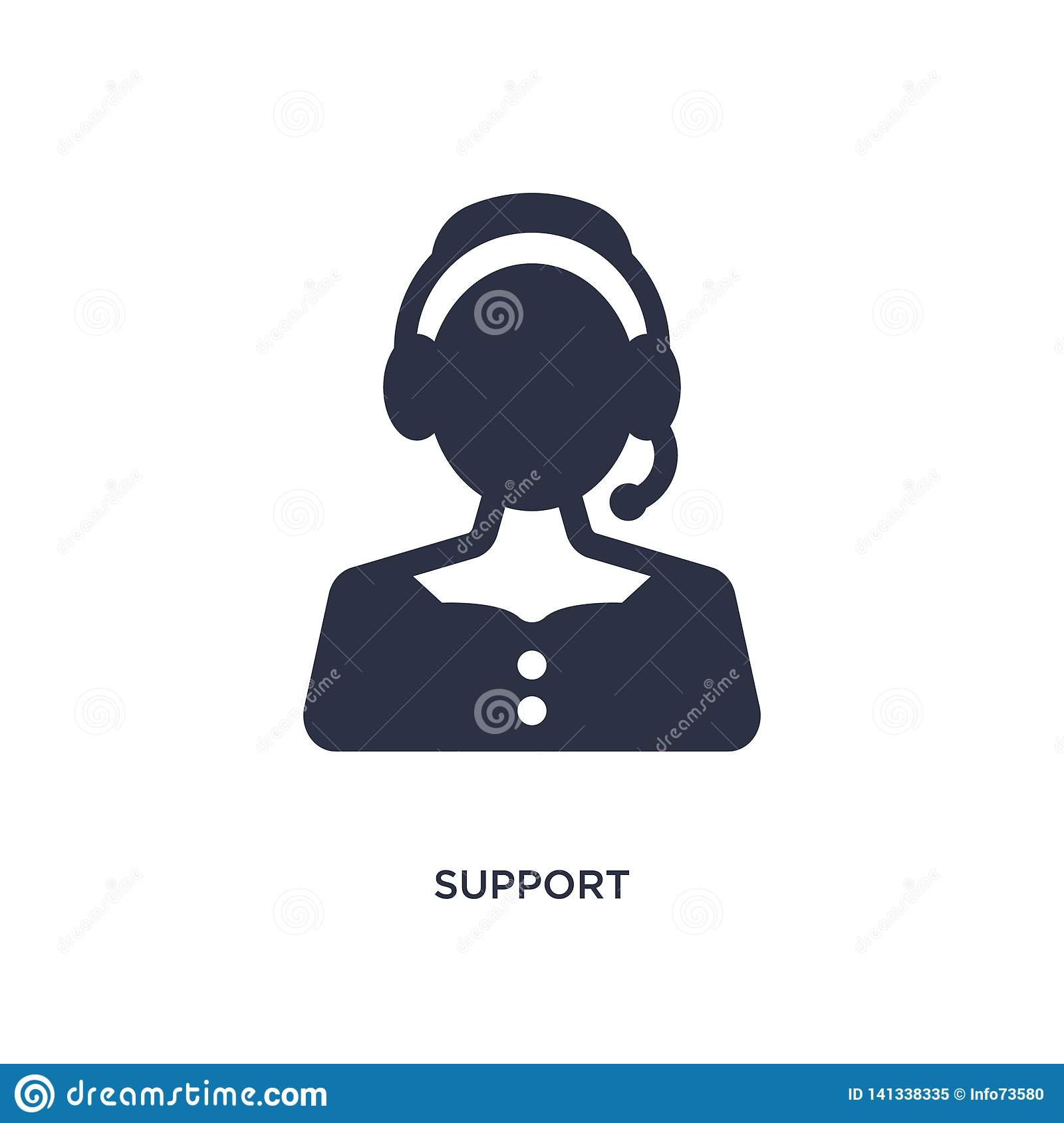 support icon on white background. Simple element illustration from customer service concept