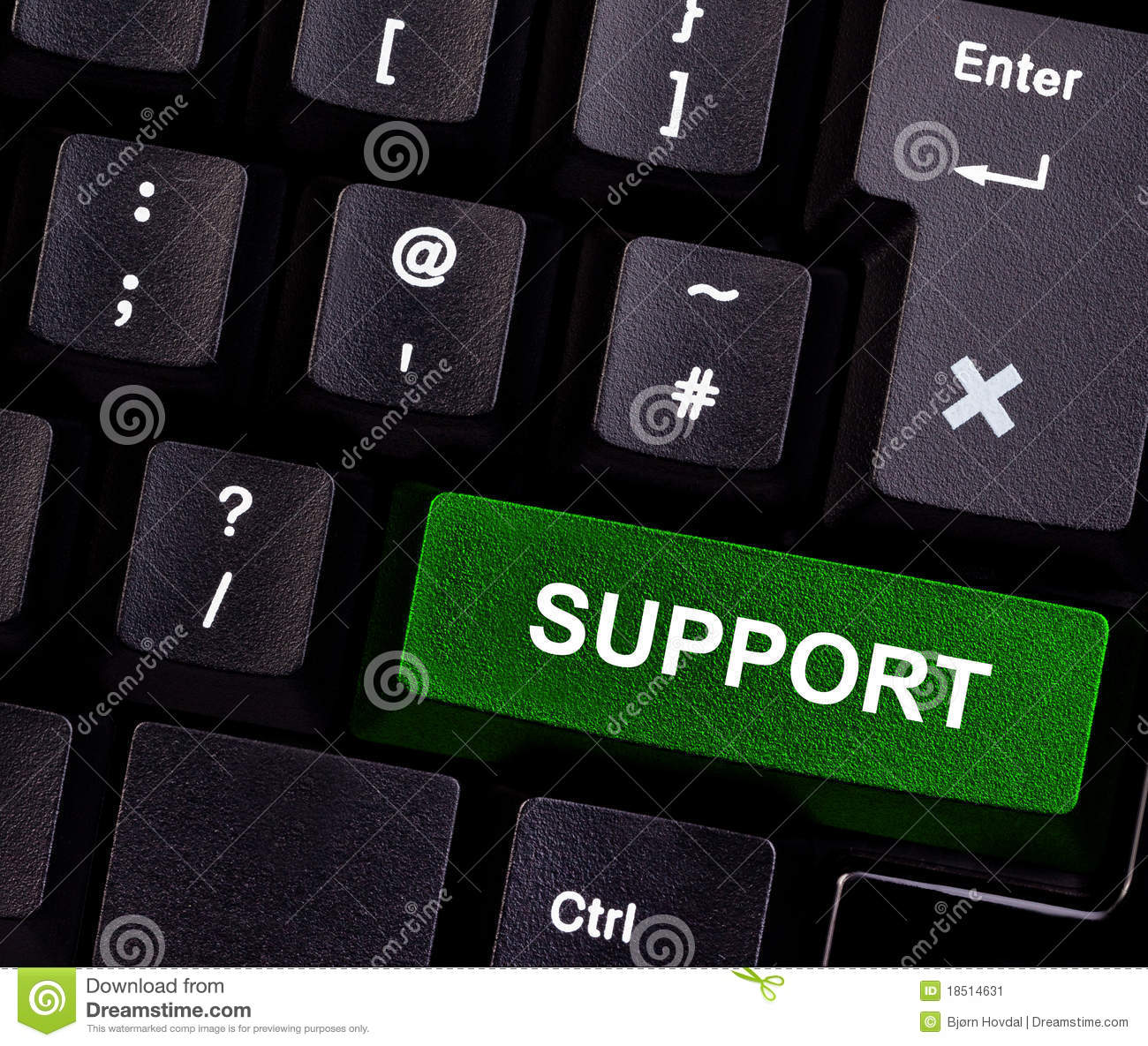 Support on keyboard