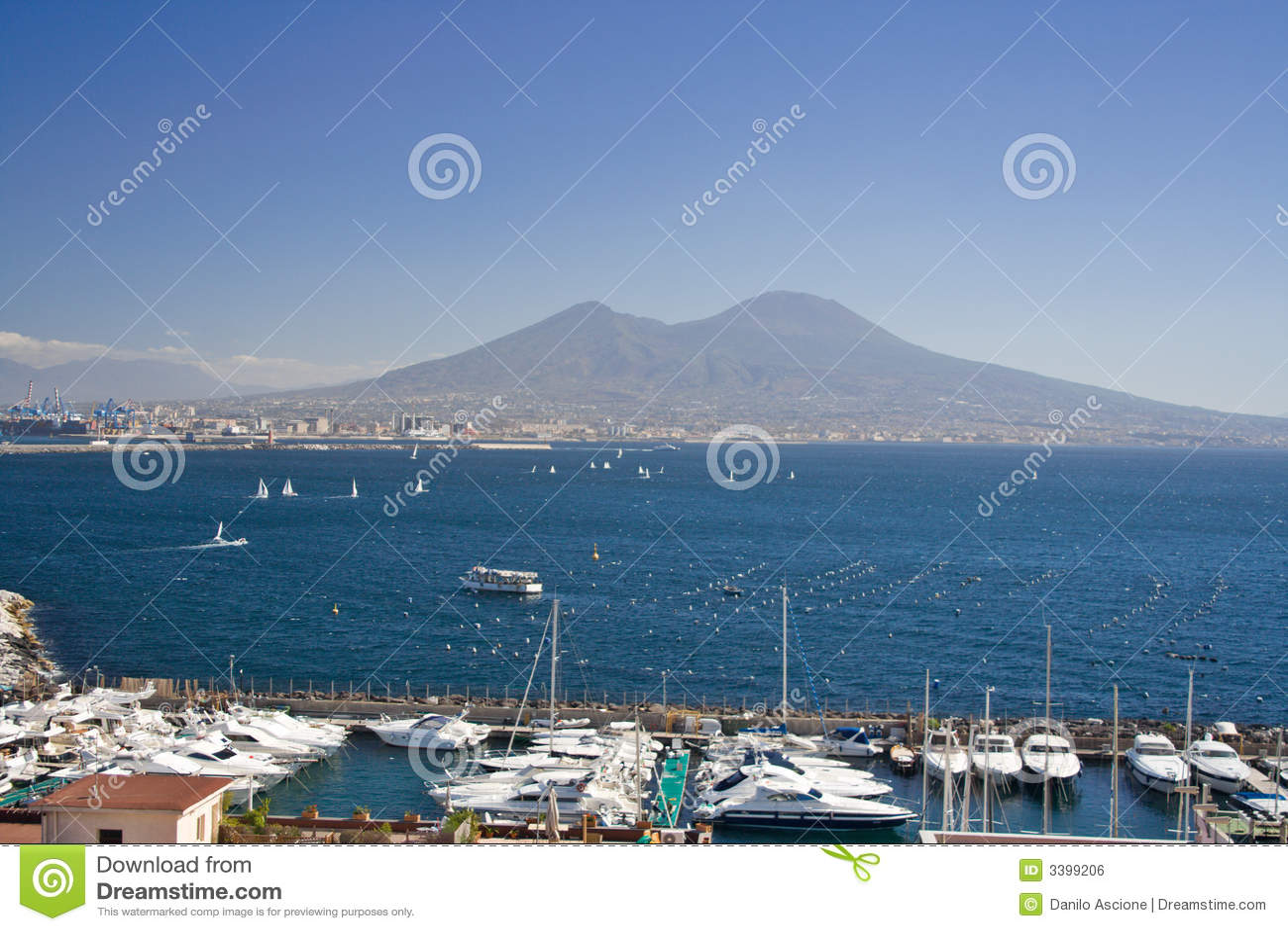 Support le Vésuve, Naples