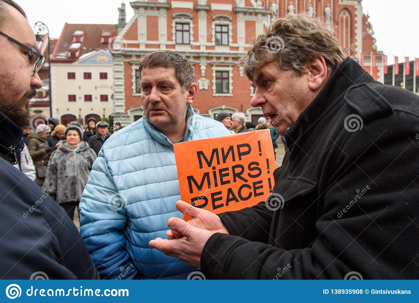 `Support` meeting, expressing support for Nils Usakovs, Mayor of Riga city council