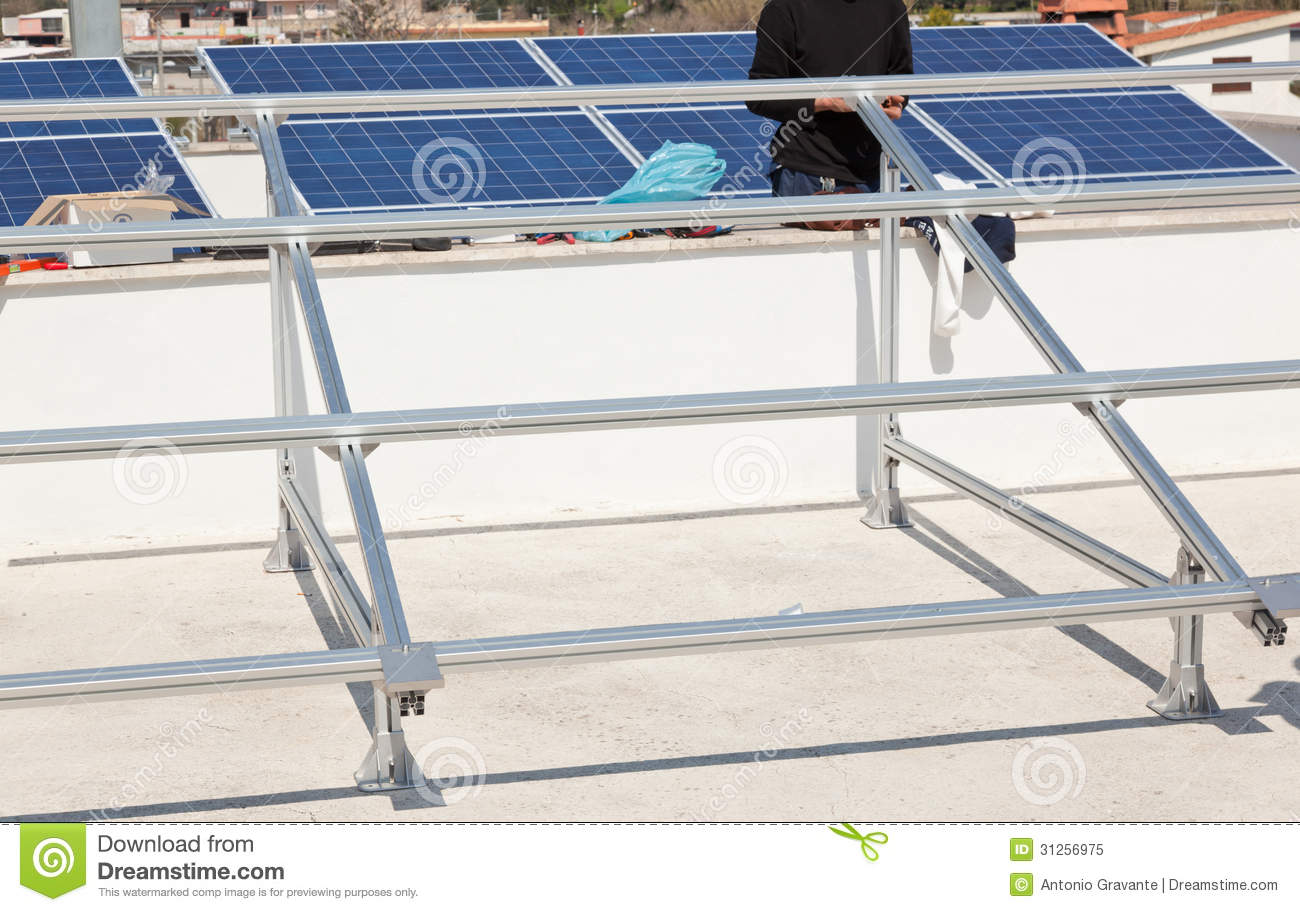 Support Structure For Solar Panel Stock Image Image Of