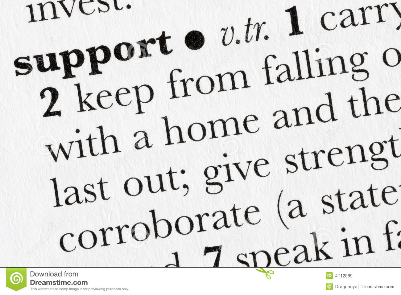 Support Word Dictionary Defini Royalty Free Stock Images ... - photo#32