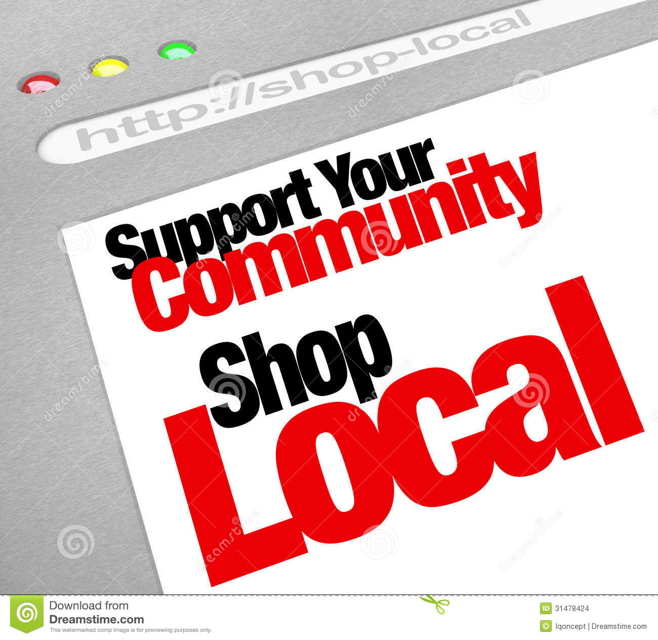 Support Your Community Shop Local Website Store Screen