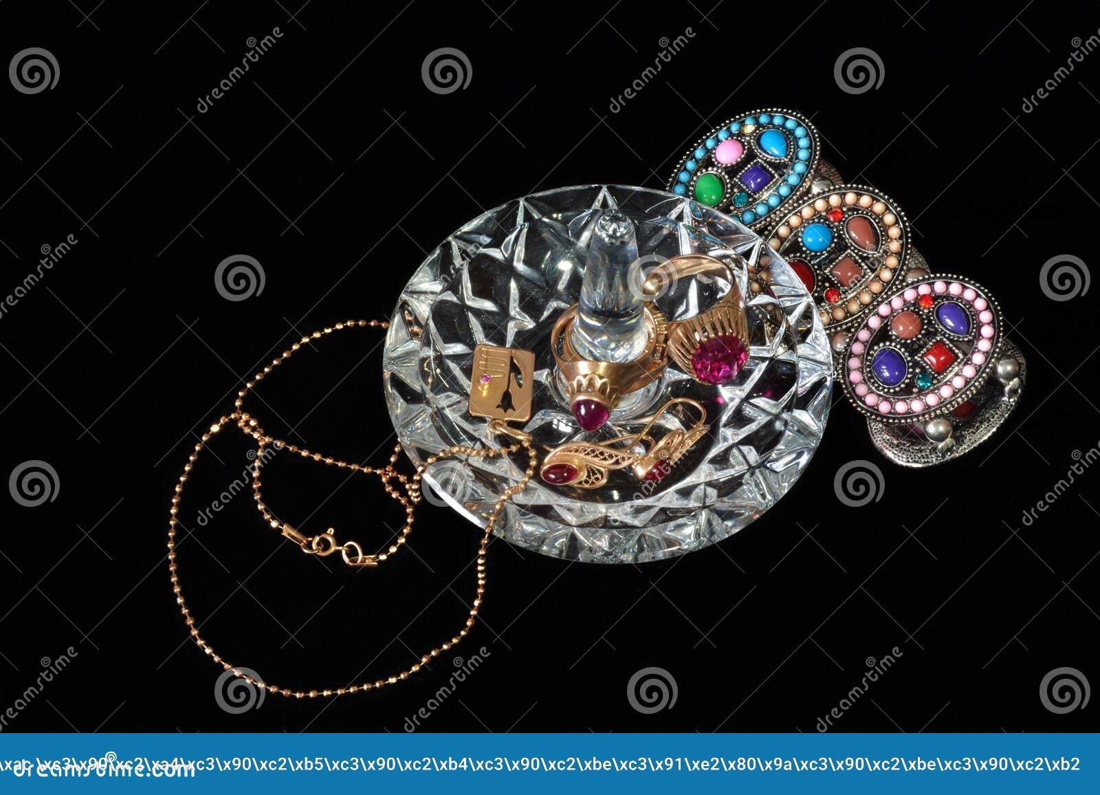 Supporto e braccialetto di cristallo
