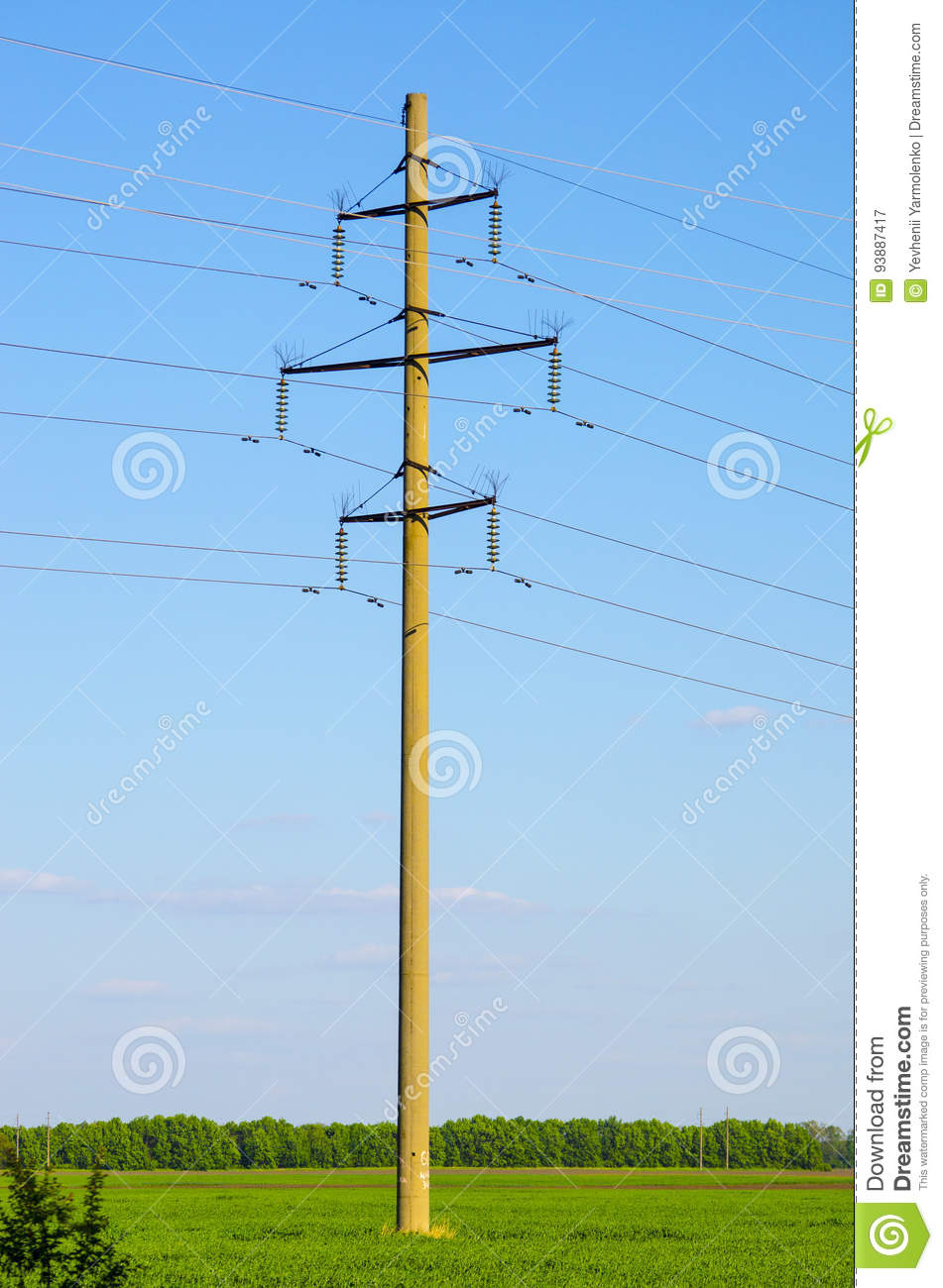Supports for overhead power transmission lines