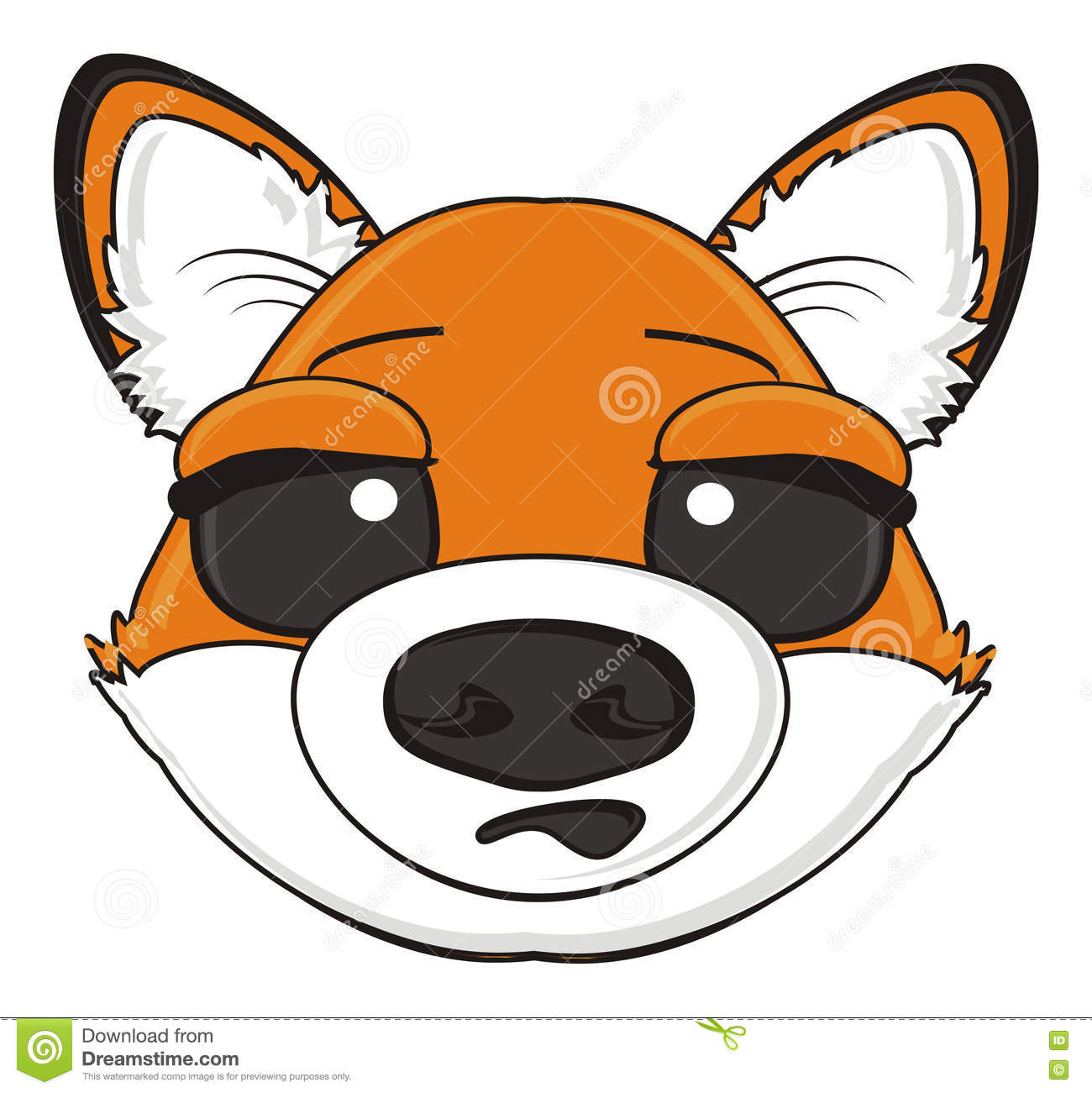 Suprise muzzle of fox