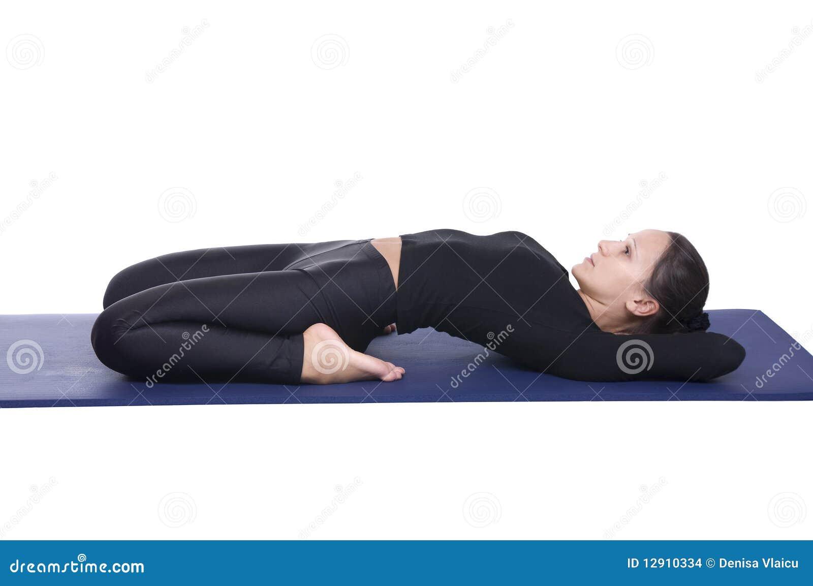 Supta Vajrasana - pose en supination de yoga de h  233 ros Vajrasana